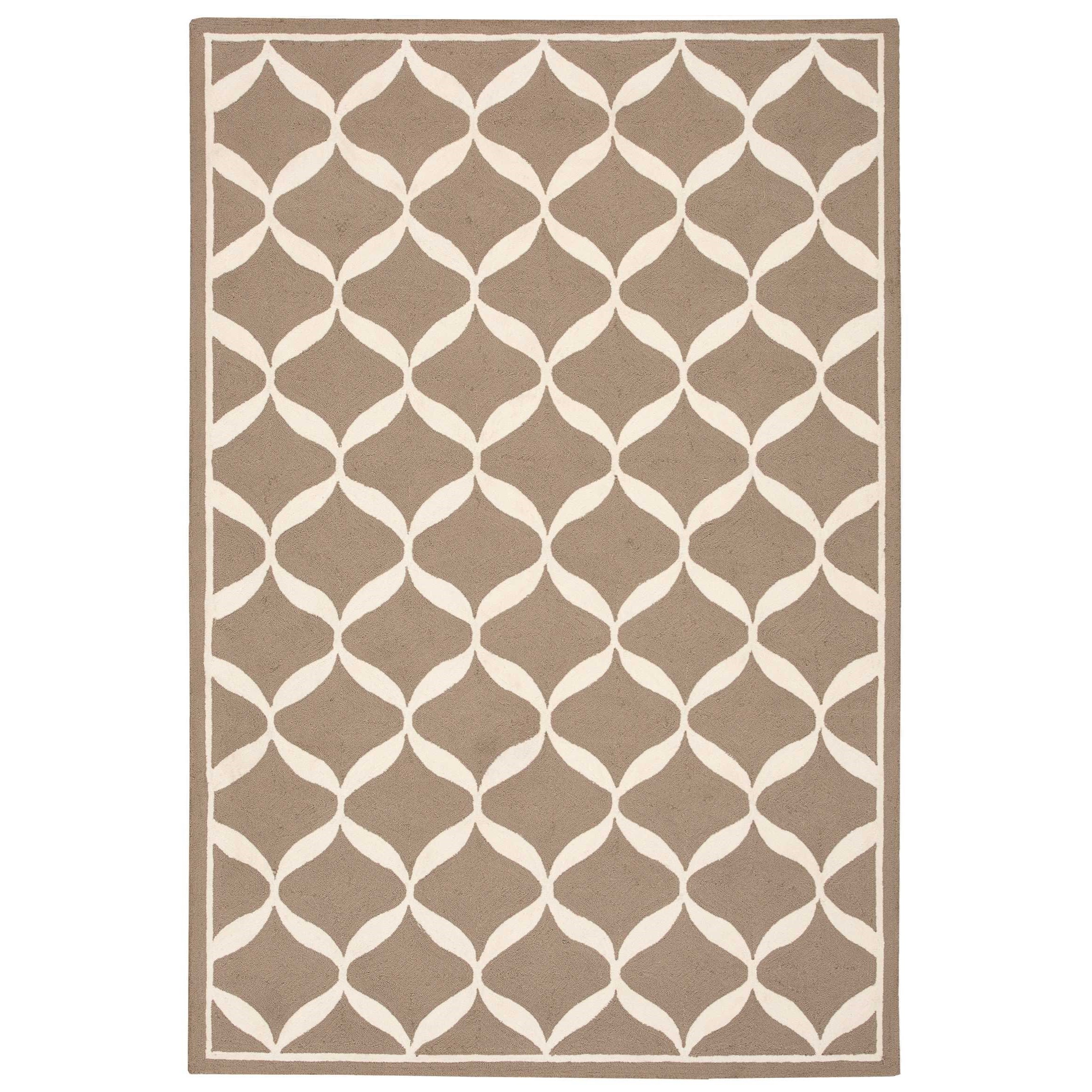 "Decor1 2'6"" X 3'10"" Taupe/White Rug by Nourison at Sprintz Furniture"