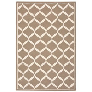 5' X 7' Taupe/White Rug