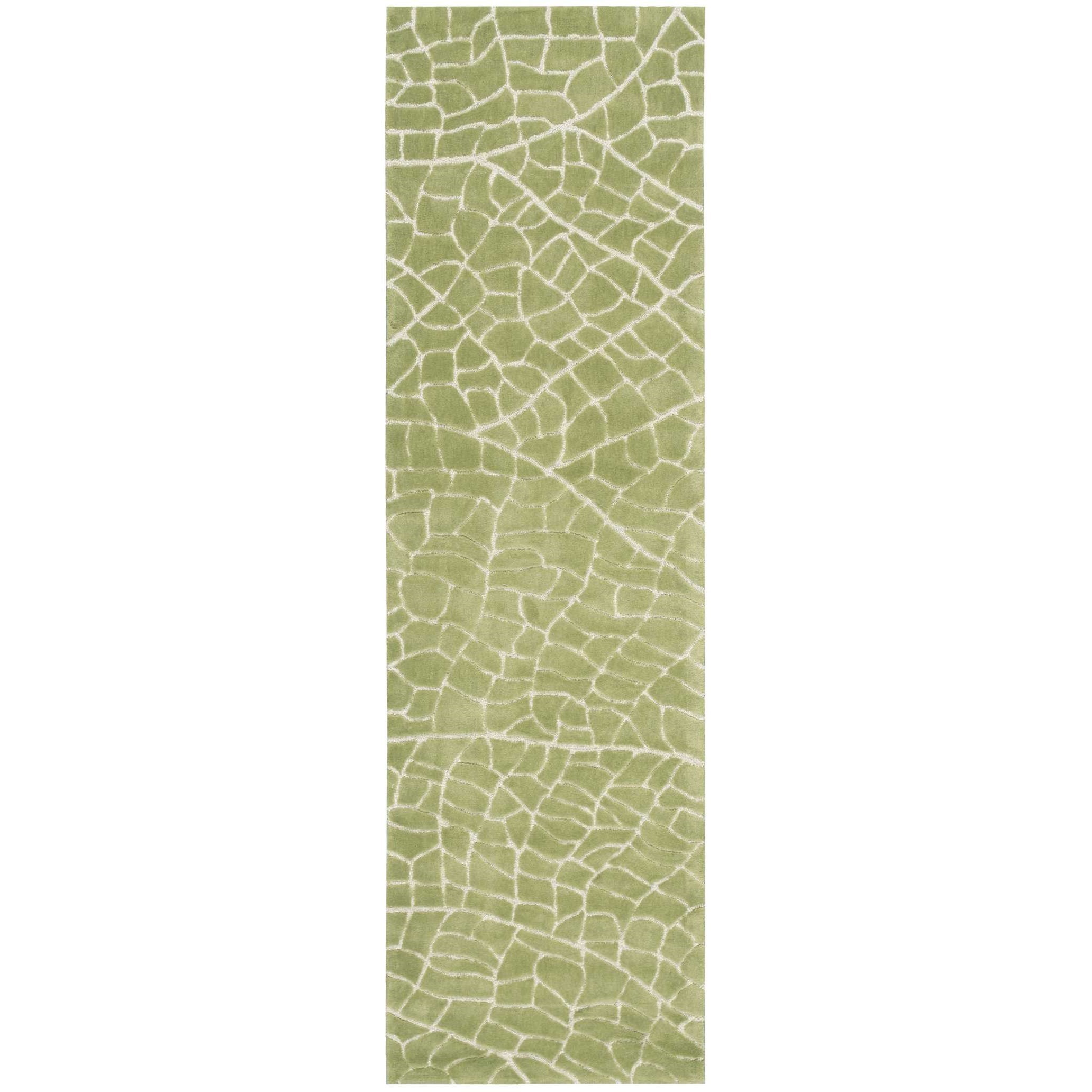 """Escalade 2'3"""" x 8' Kiwi Runner Rug by Nourison at Home Collections Furniture"""