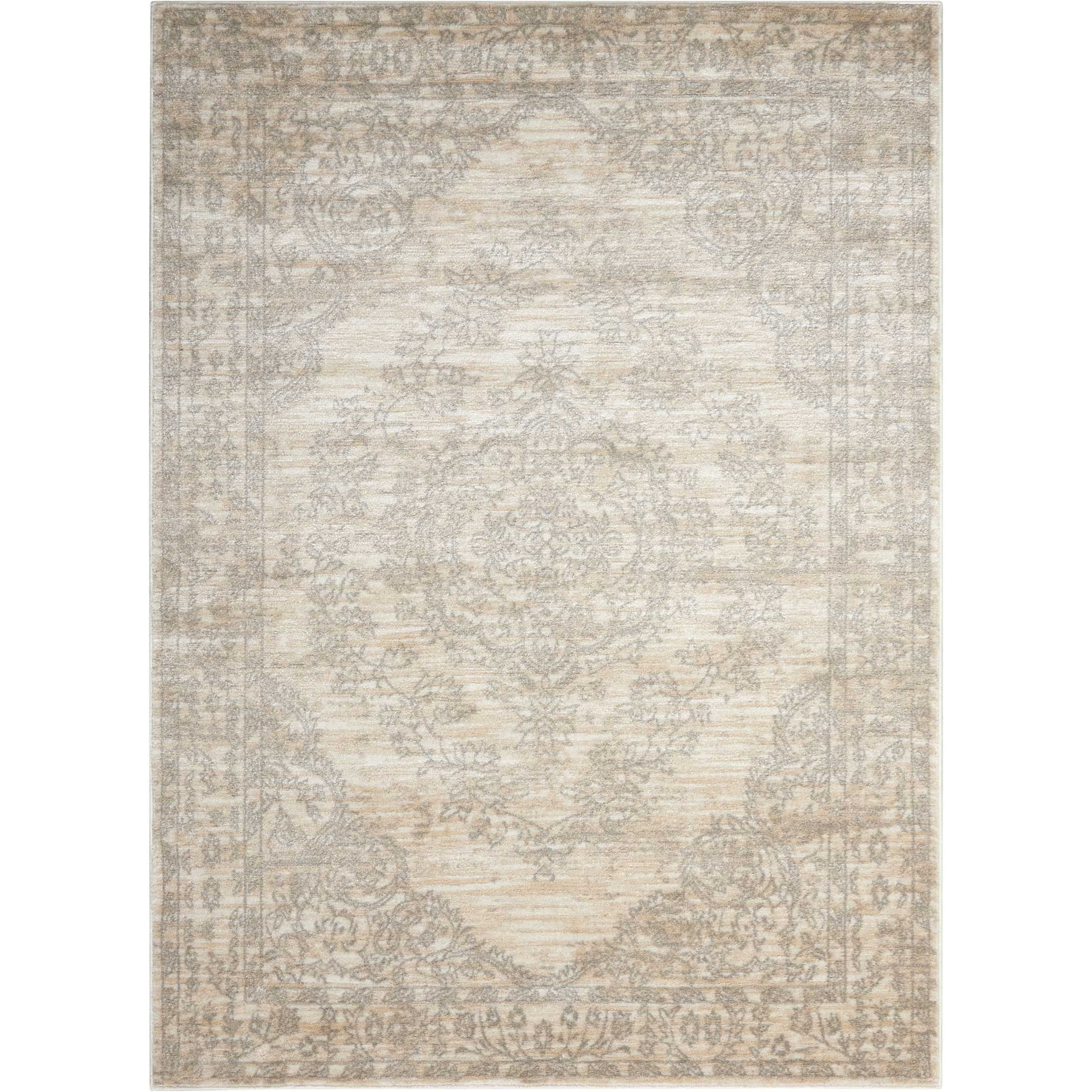 """Euphoria 3'11"""" X 5'11"""" Bone Rug by Nourison at Home Collections Furniture"""