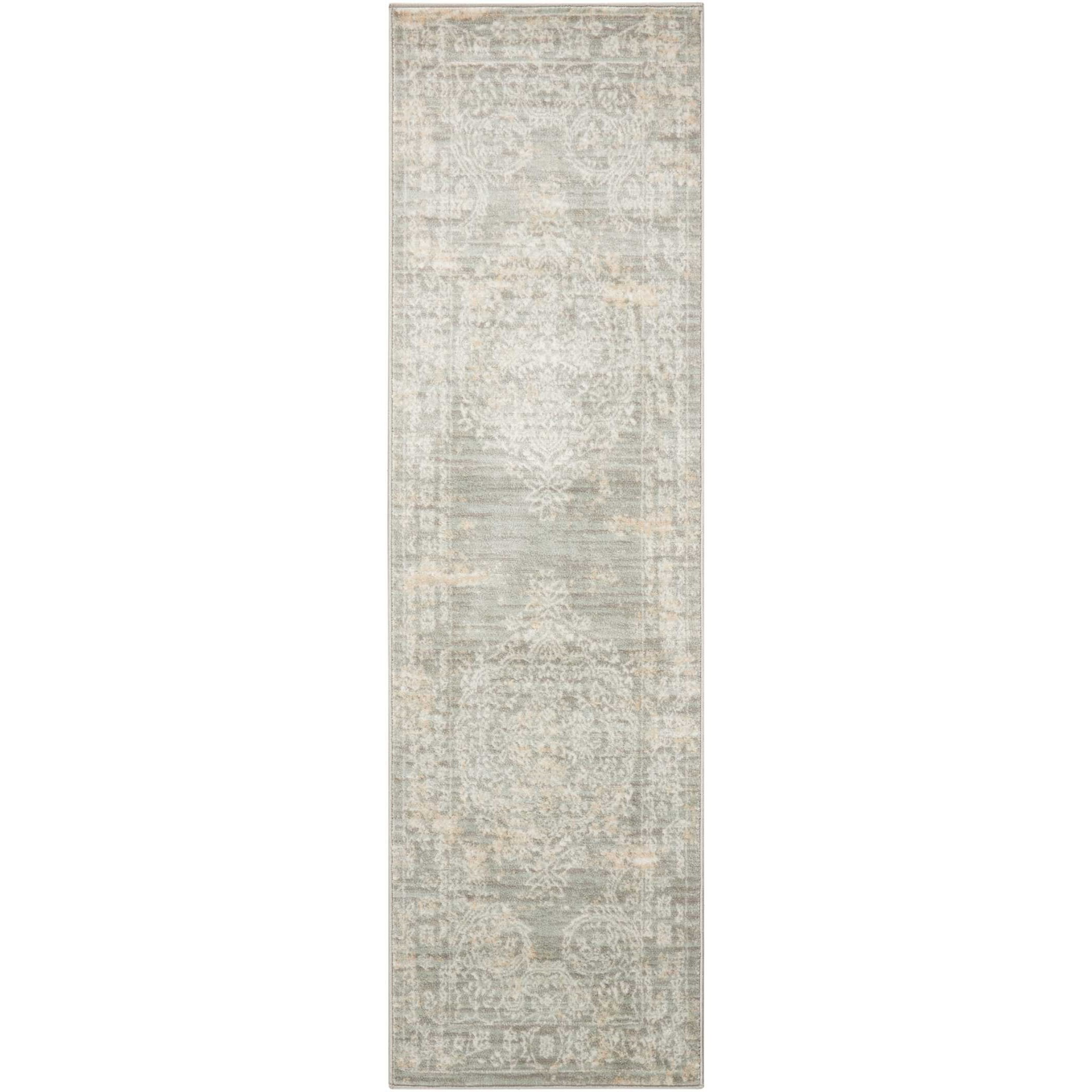 "Euphoria 2'2"" X 7'6"" Grey Rug by Nourison at Sprintz Furniture"