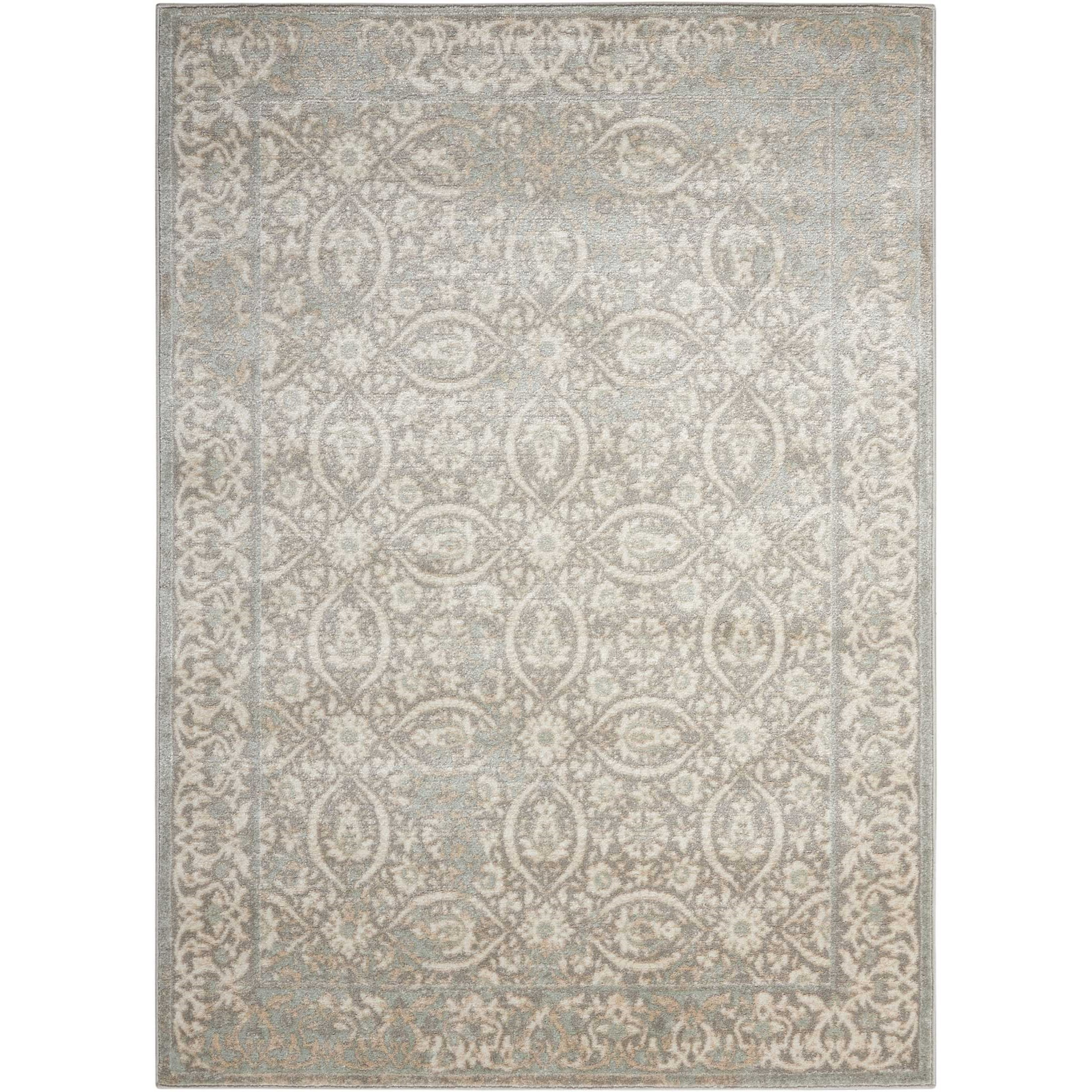"""Euphoria 6'7"""" X 9'6"""" Grey Rug by Nourison at Home Collections Furniture"""