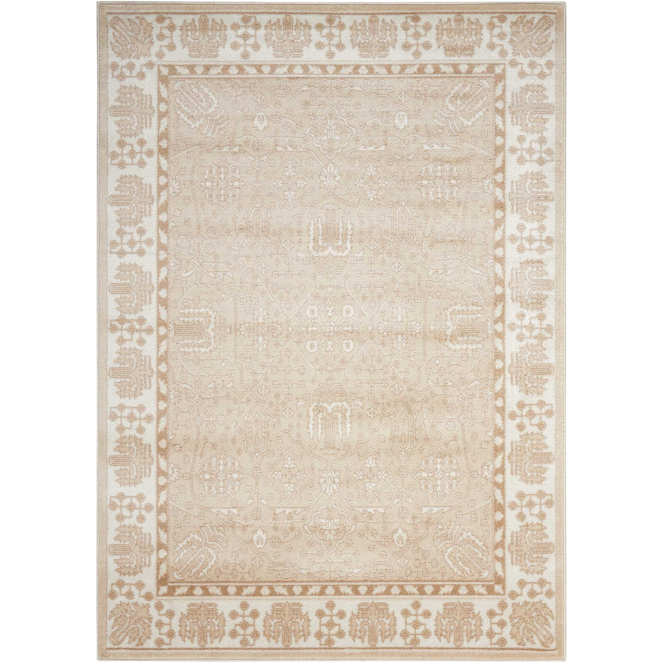 """Euphoria 3'11"""" X 5'11"""" Beige Rug by Nourison at Home Collections Furniture"""