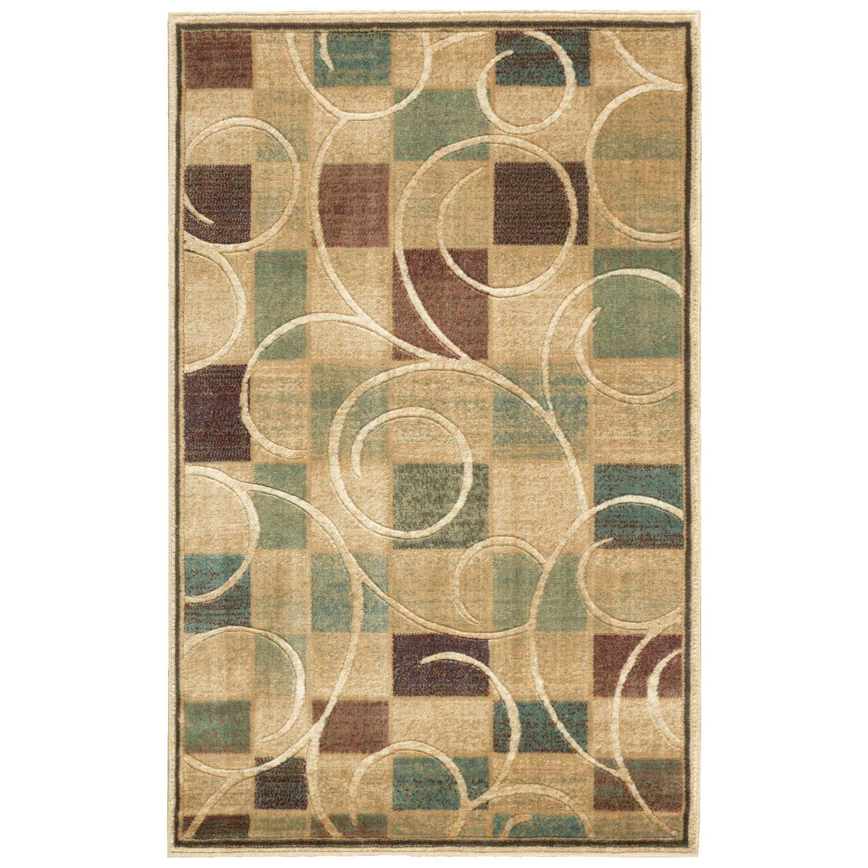 """Expressions 3'6"""" x 5'6"""" Beige Rectangle Rug by Nourison at Sprintz Furniture"""
