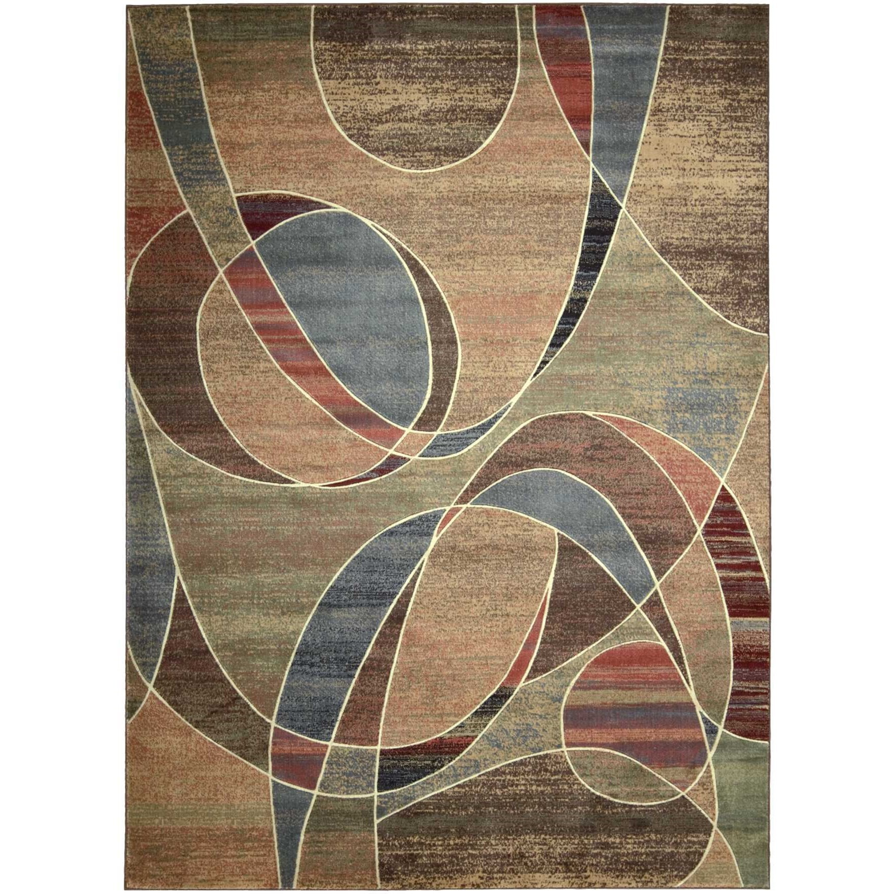 "Expressions 7'9"" x 10'10"" Multicolor Rectangle Rug by Nourison at Sprintz Furniture"