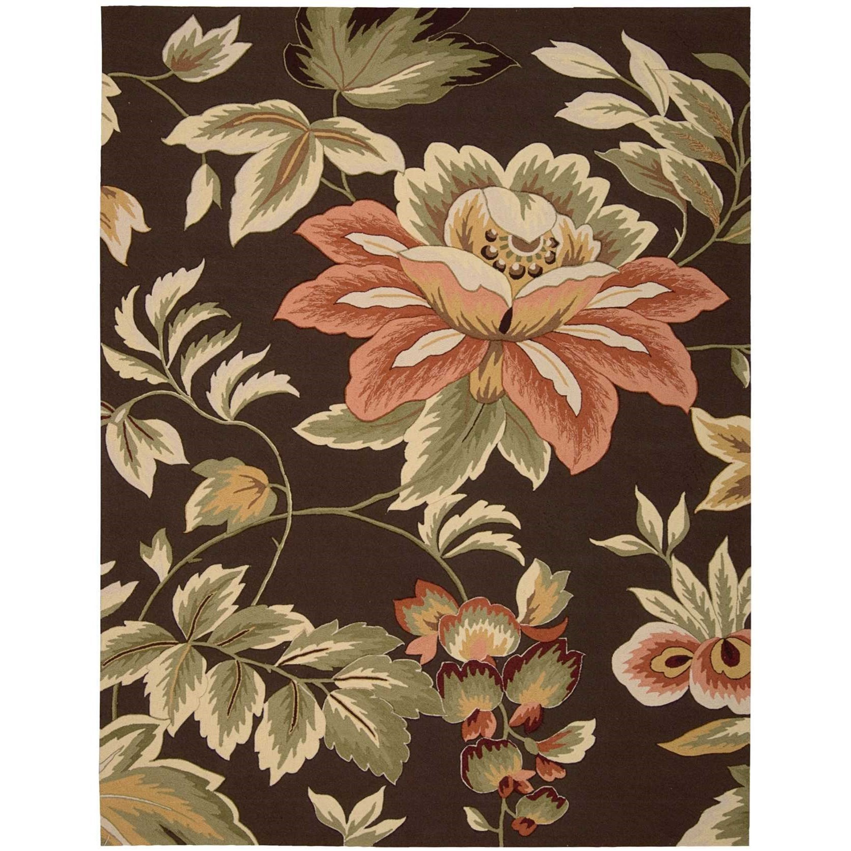 """Fantasy 8' x 10'6"""" Chocolate Rectangle Rug by Nourison at Home Collections Furniture"""