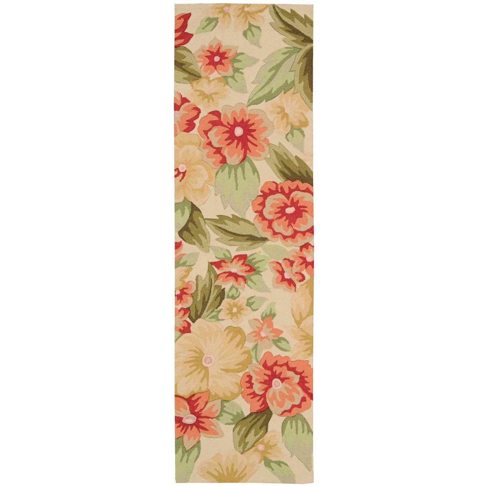 """Fantasy 2'3"""" x 8' Cream Runner Rug by Nourison at Home Collections Furniture"""