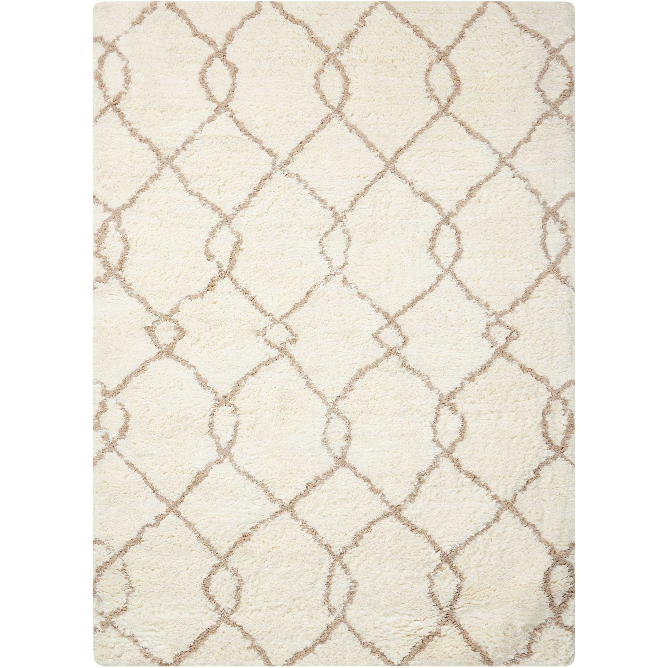 """Galway 7'6"""" x 9'6"""" Ivory/Tan Rectangle Rug by Nourison at Home Collections Furniture"""