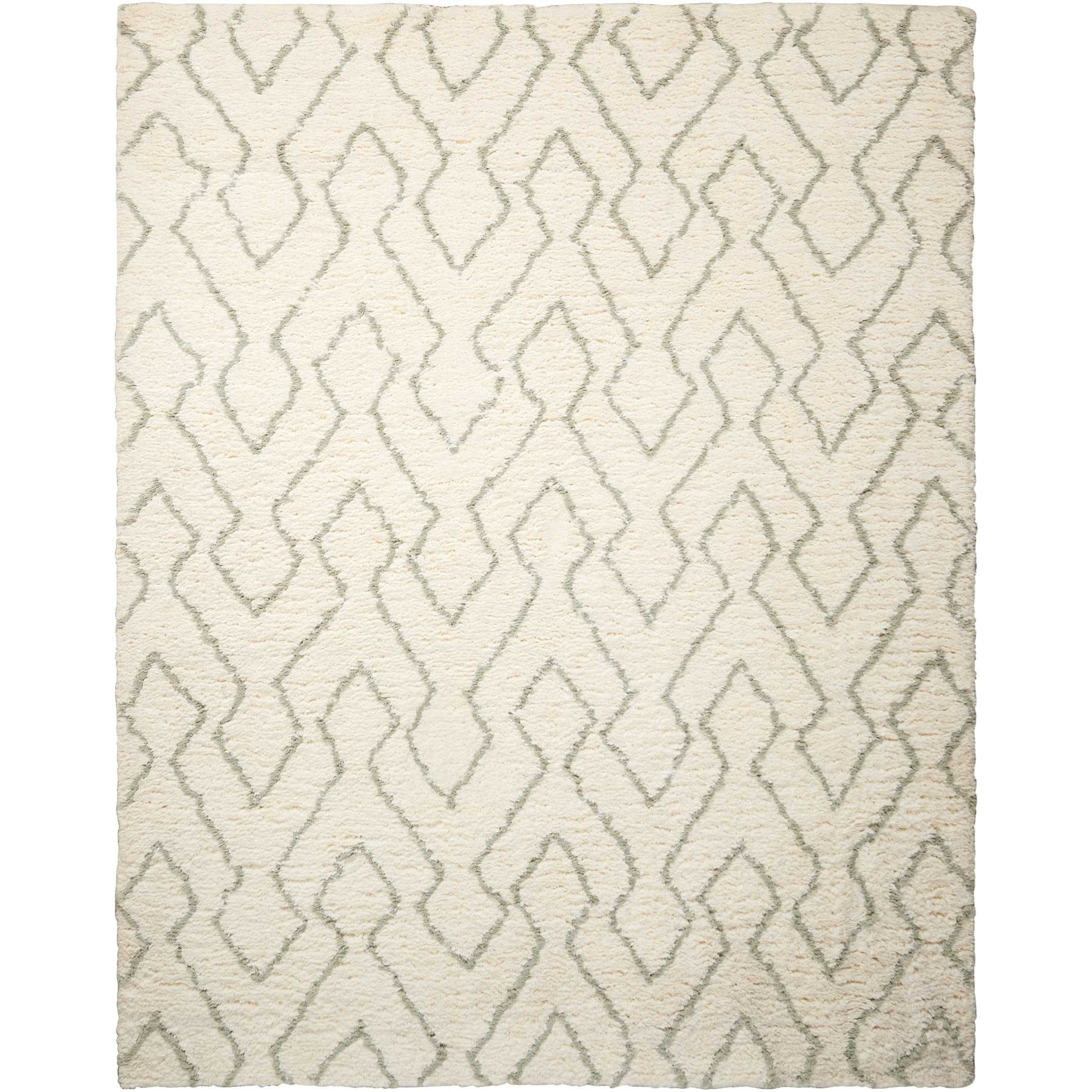 "Galway 7'6"" x 9'6"" Ivory/Sage Rectangle Rug by Nourison at Home Collections Furniture"