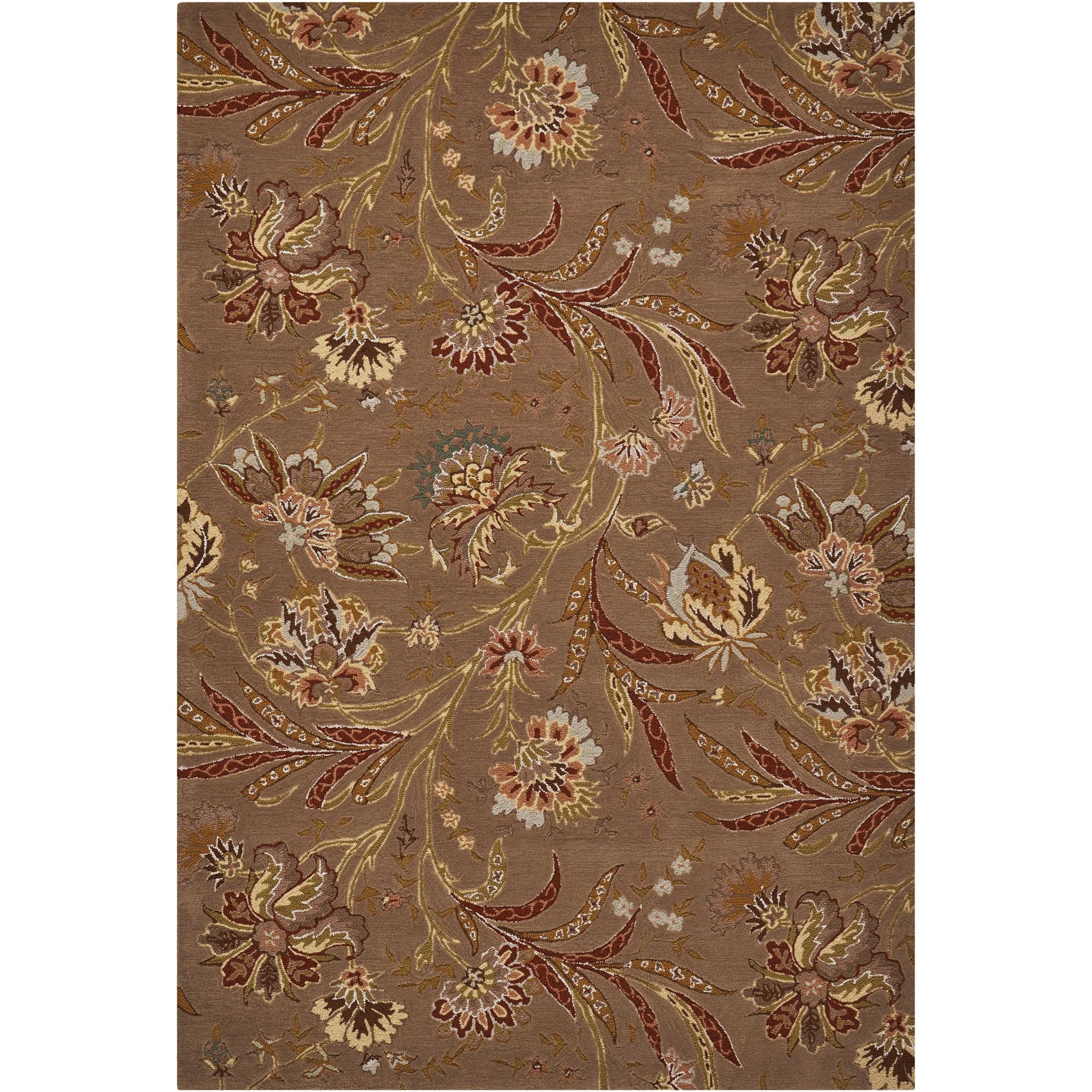 """Gatsby 3'9"""" x 5'9"""" Mocha Rectangle Rug by Nourison at Home Collections Furniture"""
