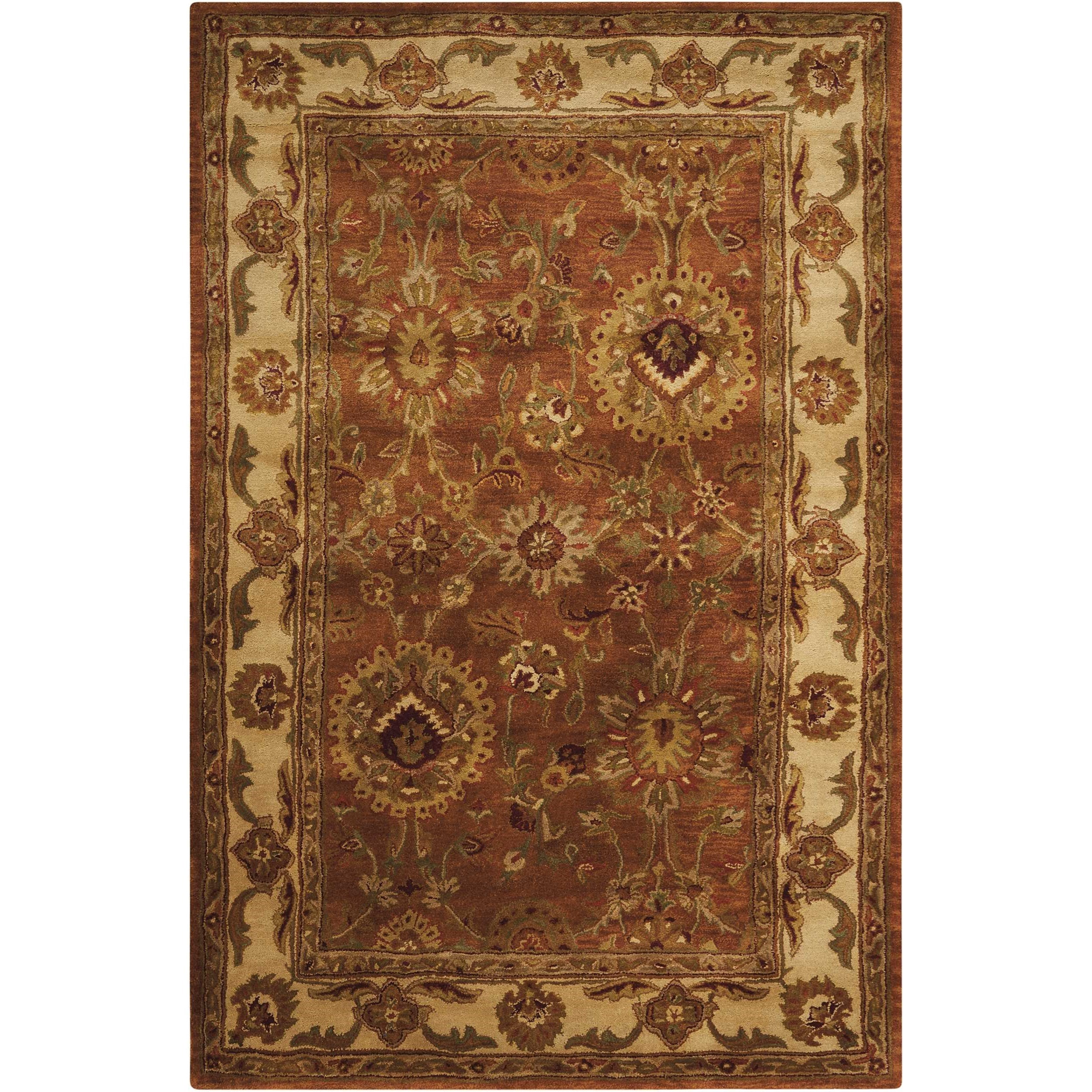 """Jaipur 3'9"""" x 5'9"""" Rust Rectangle Rug by Nourison at Story & Lee Furniture"""