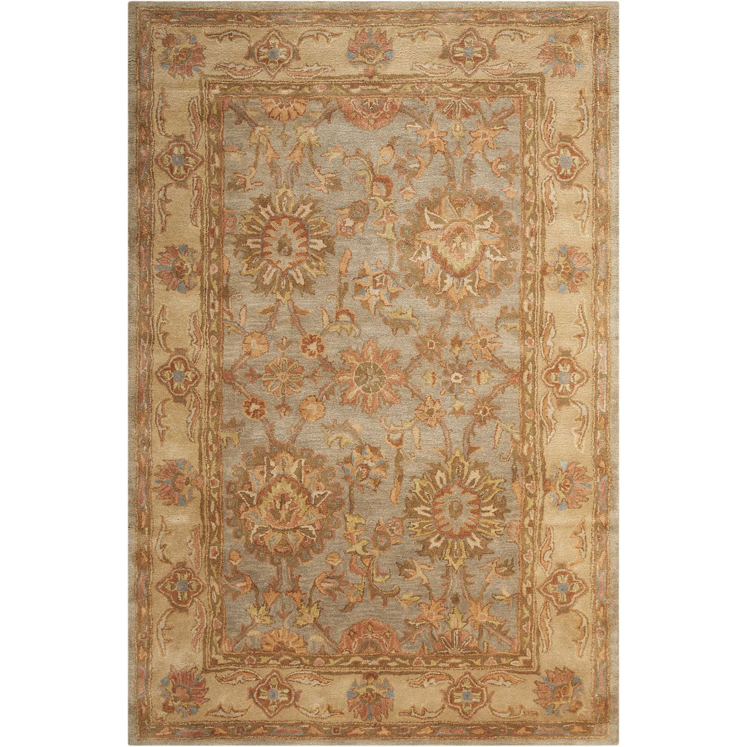 "Jaipur 5'6"" x 8'6"" Aqua Rectangle Rug by Nourison at Home Collections Furniture"