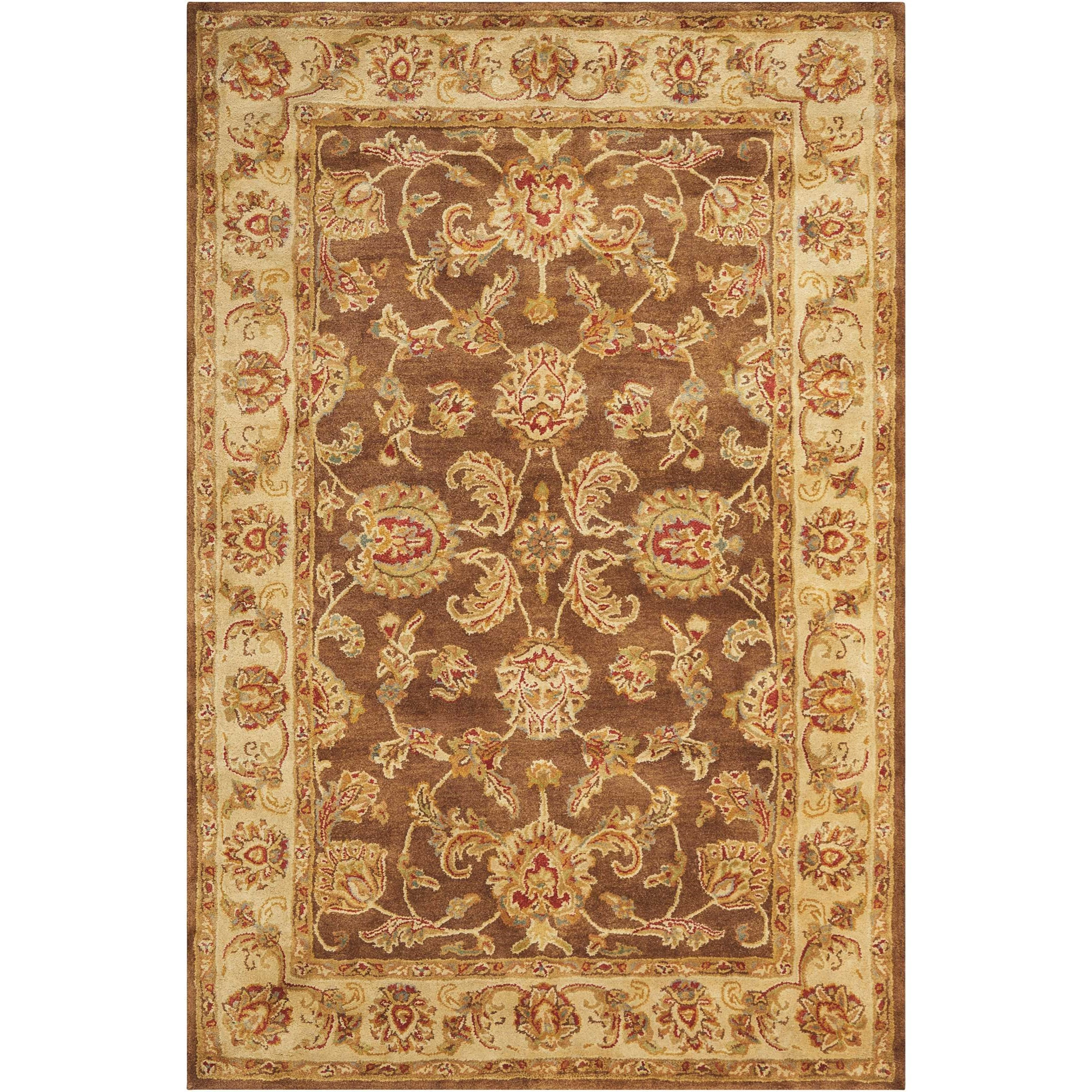 "Jaipur 3'9"" x 5'9"" Brown Rectangle Rug by Nourison at Home Collections Furniture"
