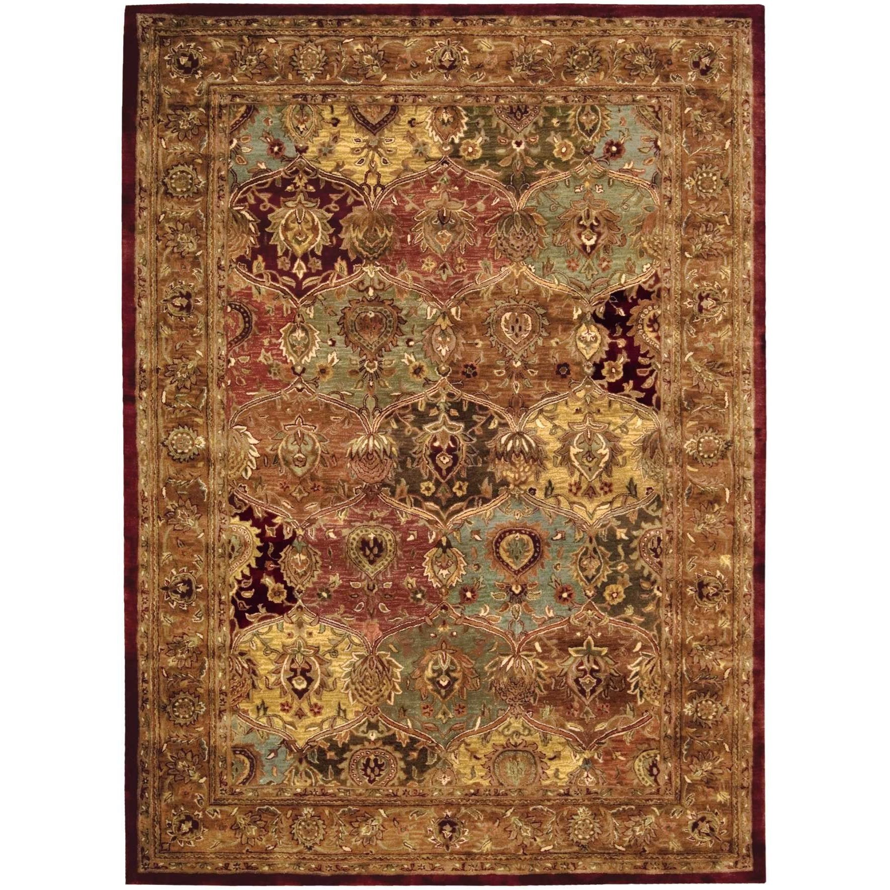 """Jaipur 9'6"""" x 13'6"""" Multicolor Rectangle Rug by Nourison at Home Collections Furniture"""