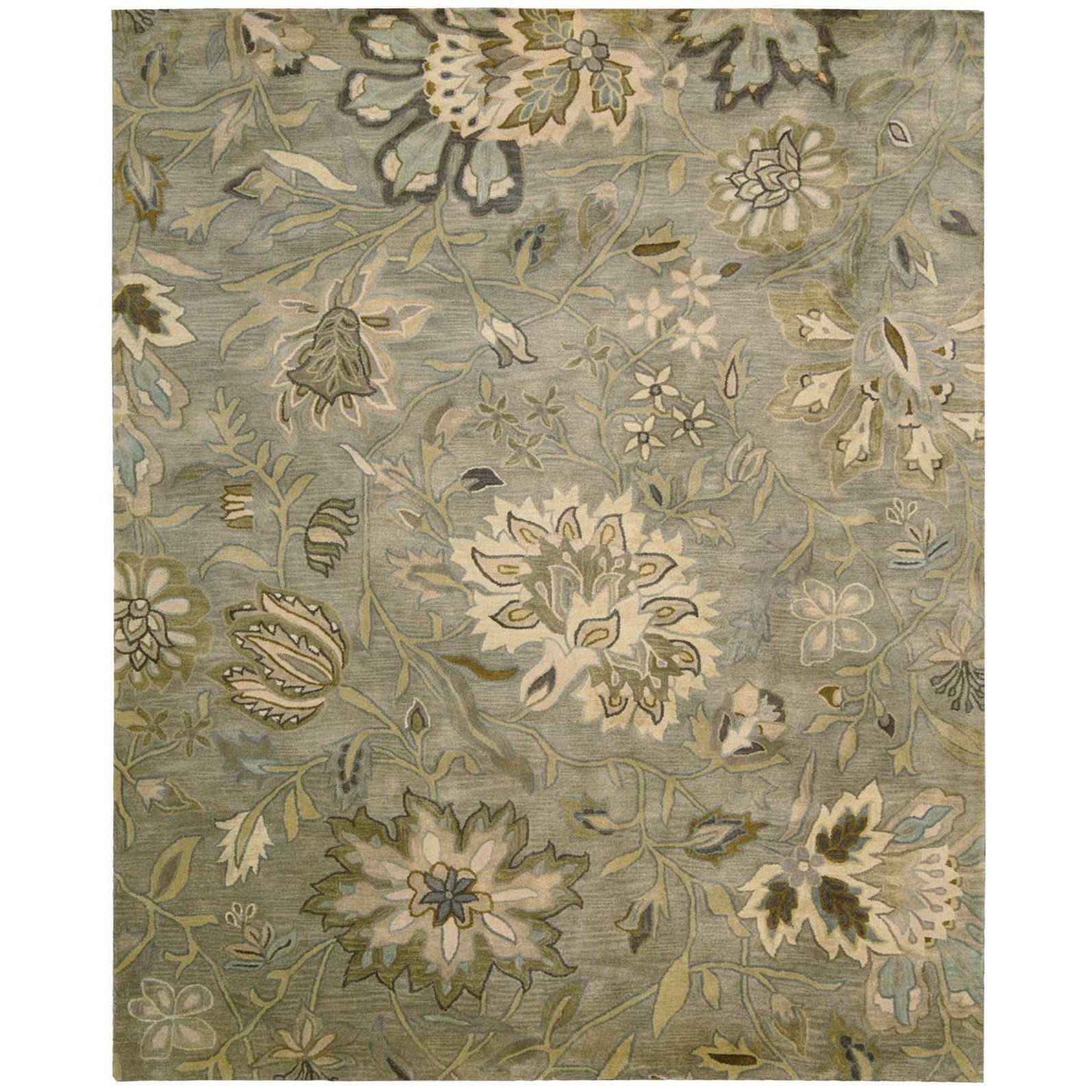 "Jaipur 3'9"" x 5'9"" Silver Rectangle Rug by Nourison at Home Collections Furniture"