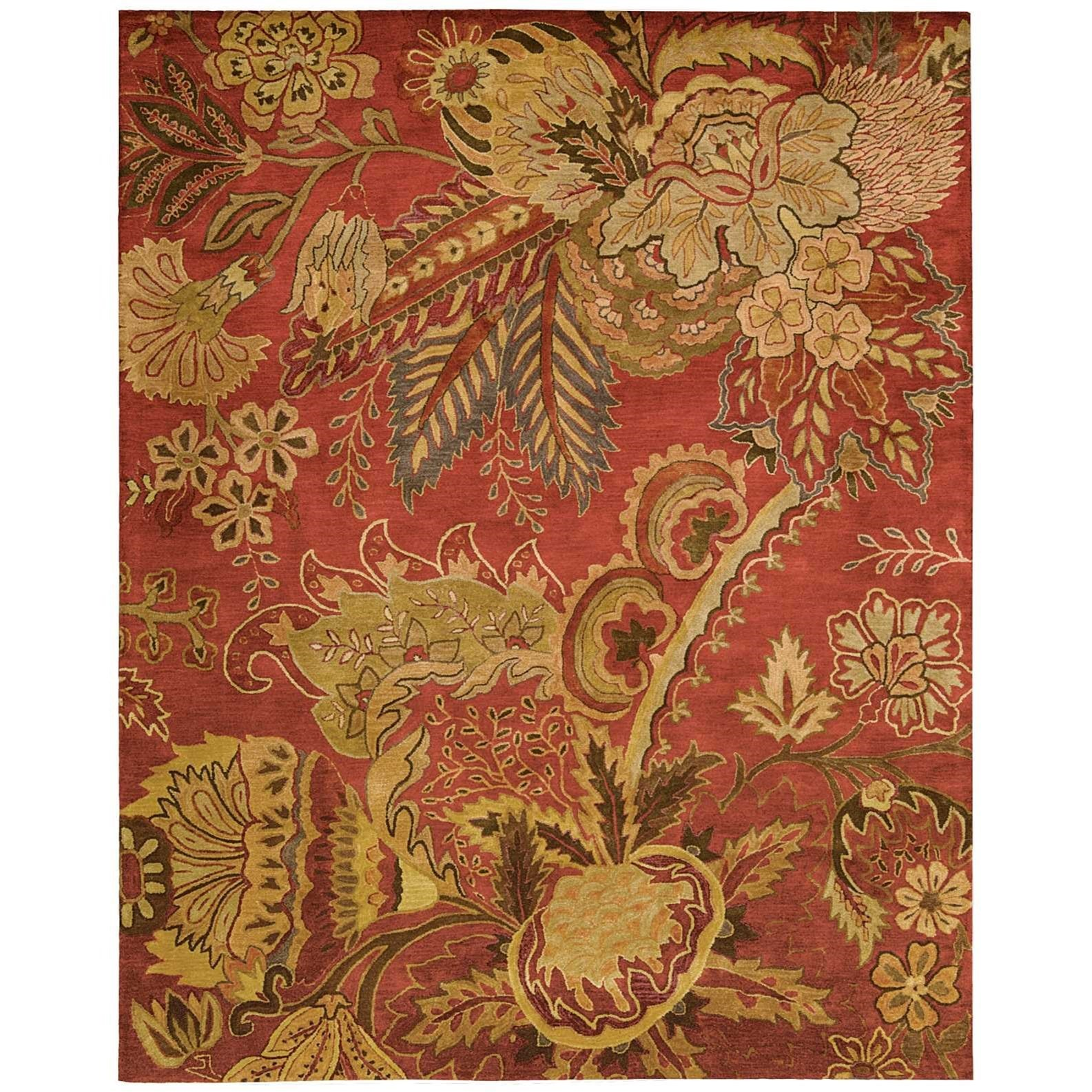 """Jaipur 7'9"""" x 9'9"""" Flame Rectangle Rug by Nourison at Home Collections Furniture"""