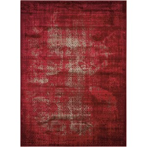 "5'3"" X 7'4"" Red Rectangle Rug"