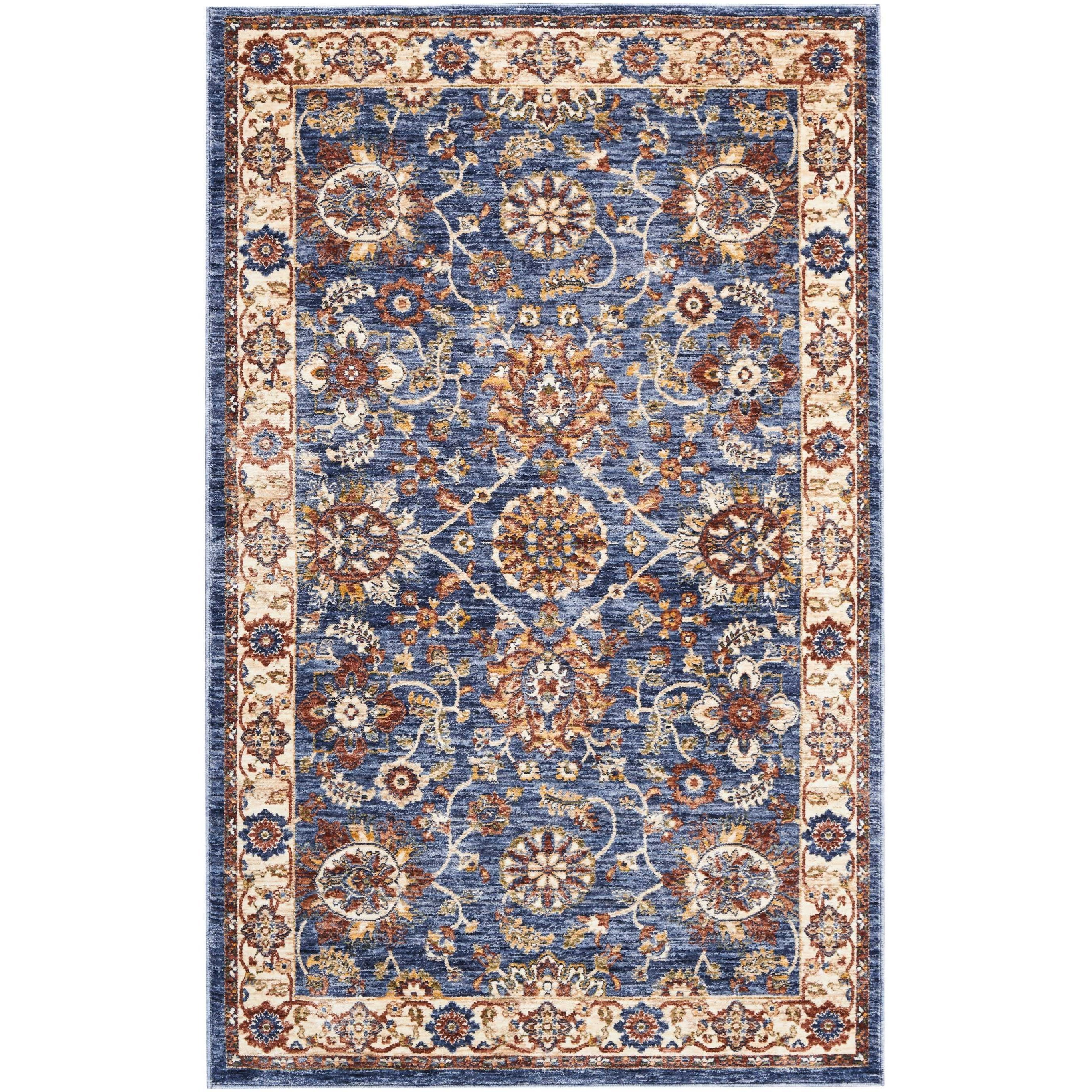 Lagos 3' X 5' Blue Rug by Nourison at Home Collections Furniture