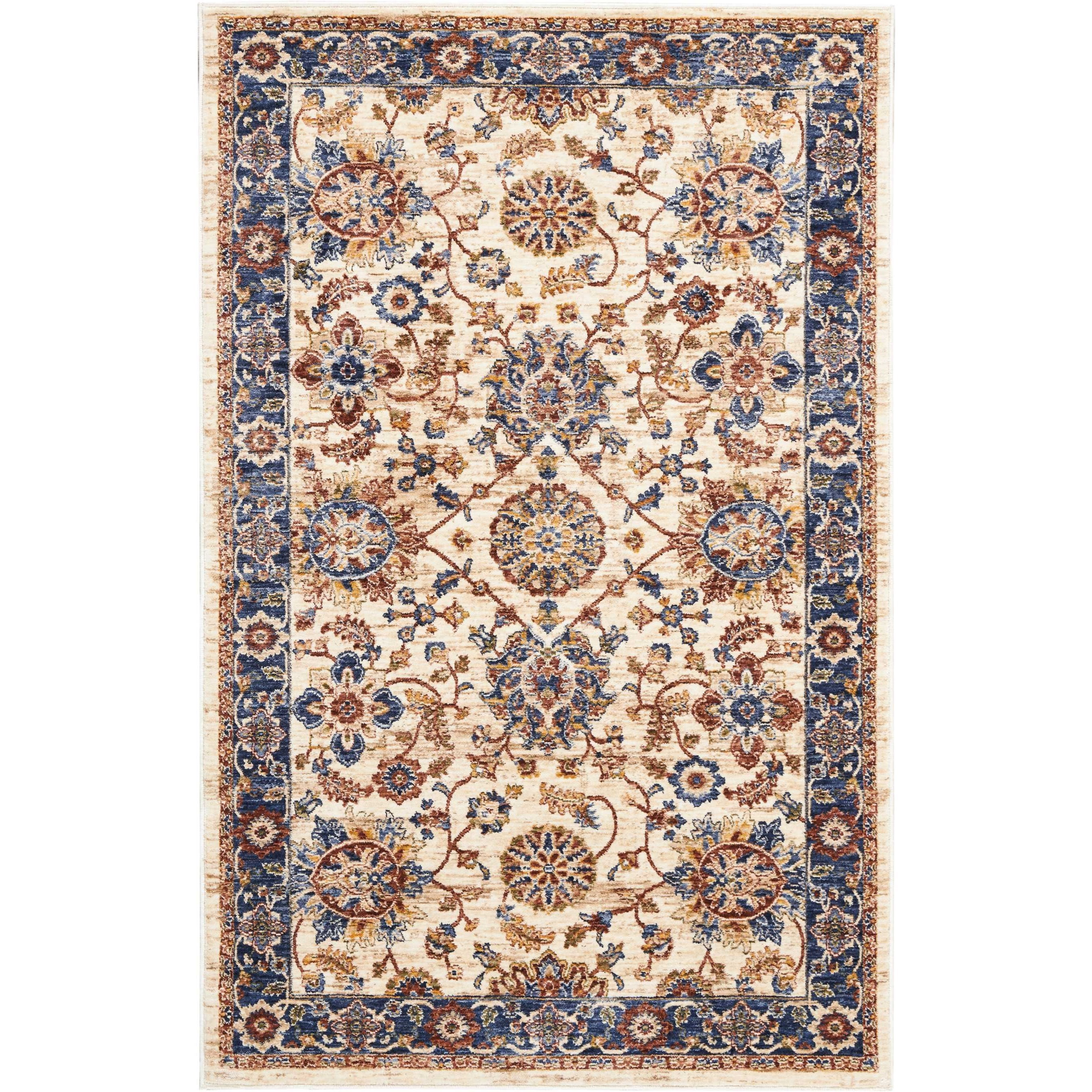 Lagos 3' X 5' Cream Rug by Nourison at Home Collections Furniture