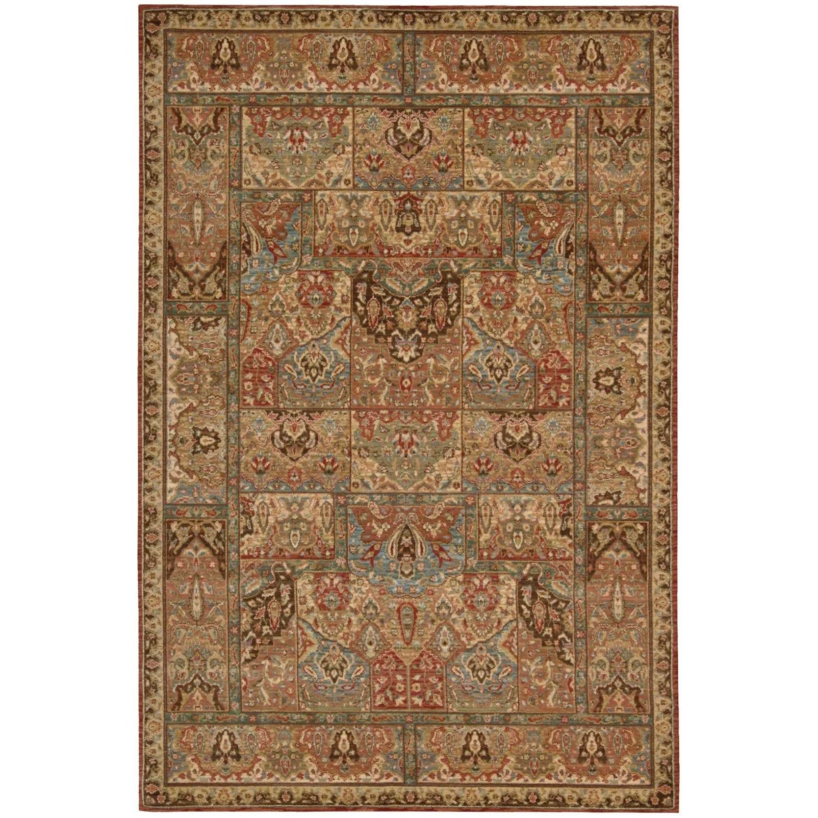 "Living Treasures 3'6"" x 5'6"" Multicolor Rectangle Rug by Nourison at Home Collections Furniture"