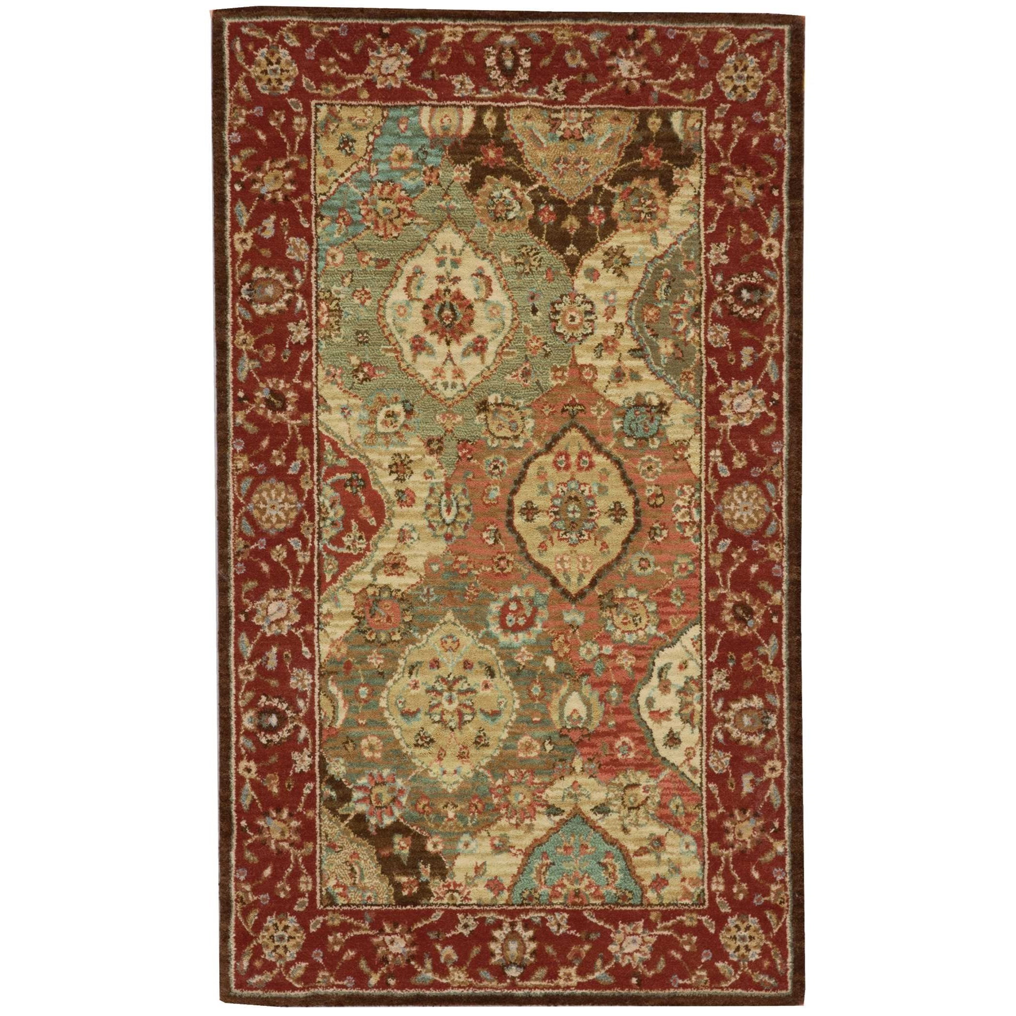 """Living Treasures 2'6"""" x 4'3"""" Multicolor Rectangle Rug by Nourison at Home Collections Furniture"""
