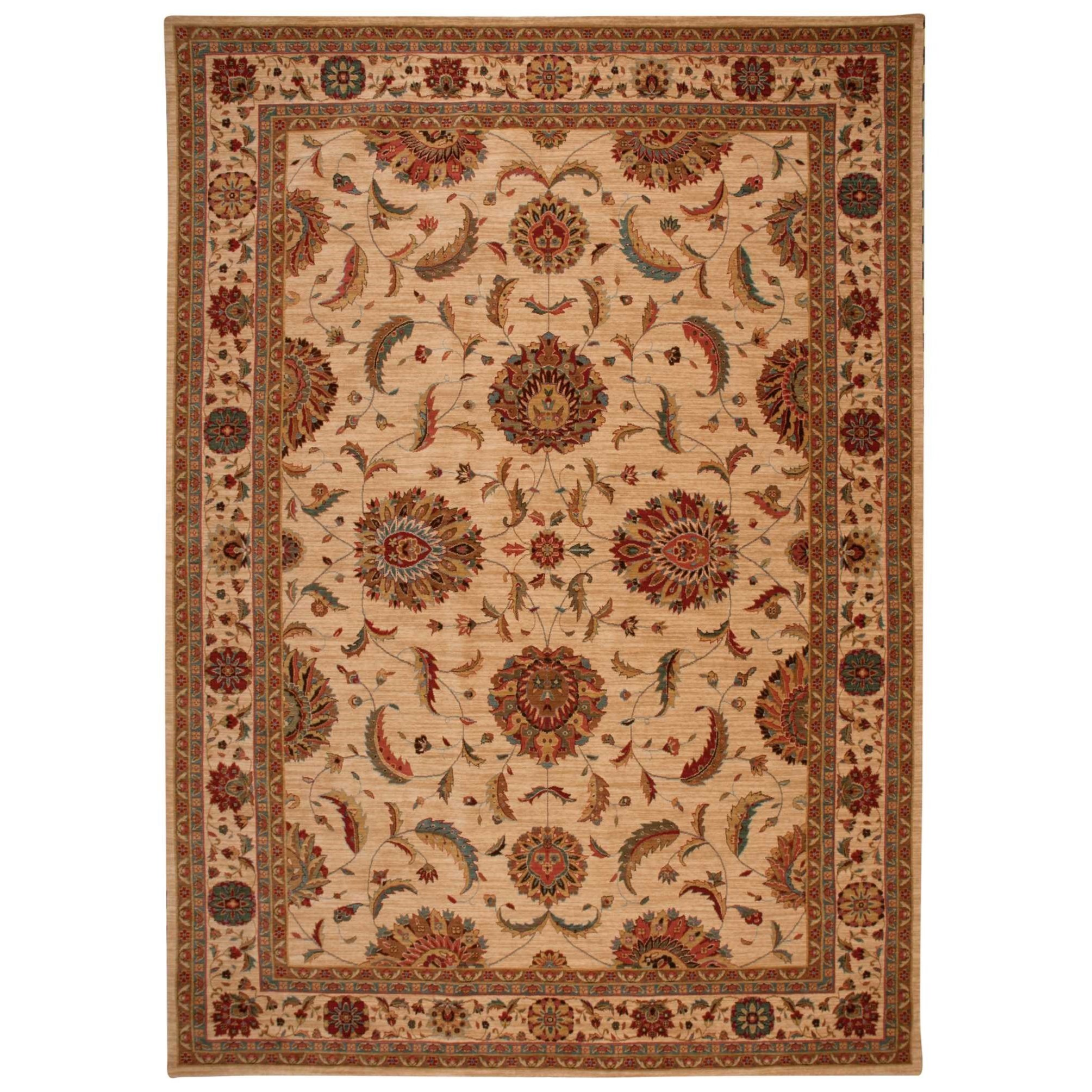 """Living Treasures 9'9"""" x 13'9"""" Ivory Rectangle Rug by Nourison at Sprintz Furniture"""