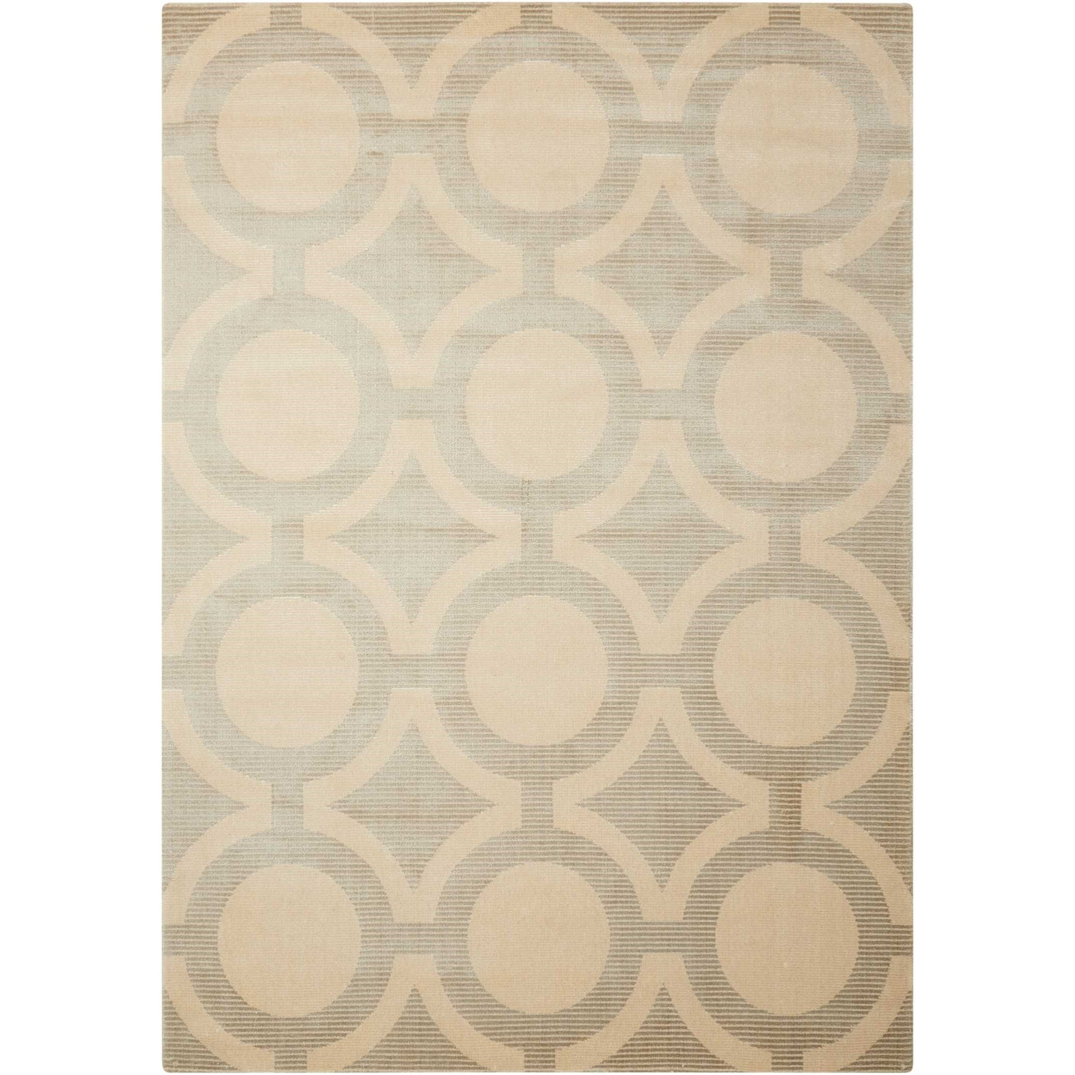 "Luminance 5'3"" x 7'5"" Cream Grey Rectangle Rug by Nourison at Home Collections Furniture"