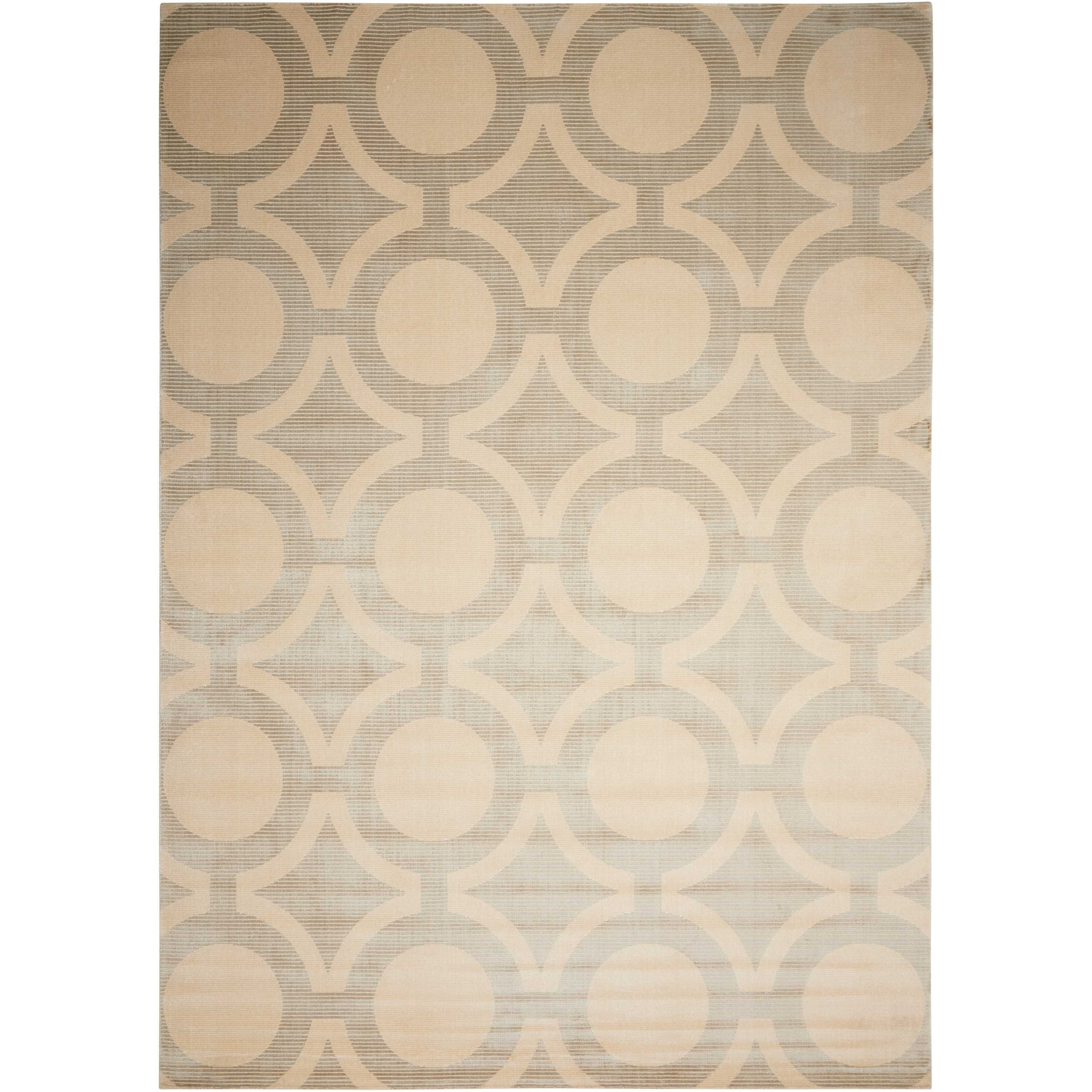 """Luminance 7'6"""" x 10'6"""" Cream Grey Rectangle Rug by Nourison at Home Collections Furniture"""