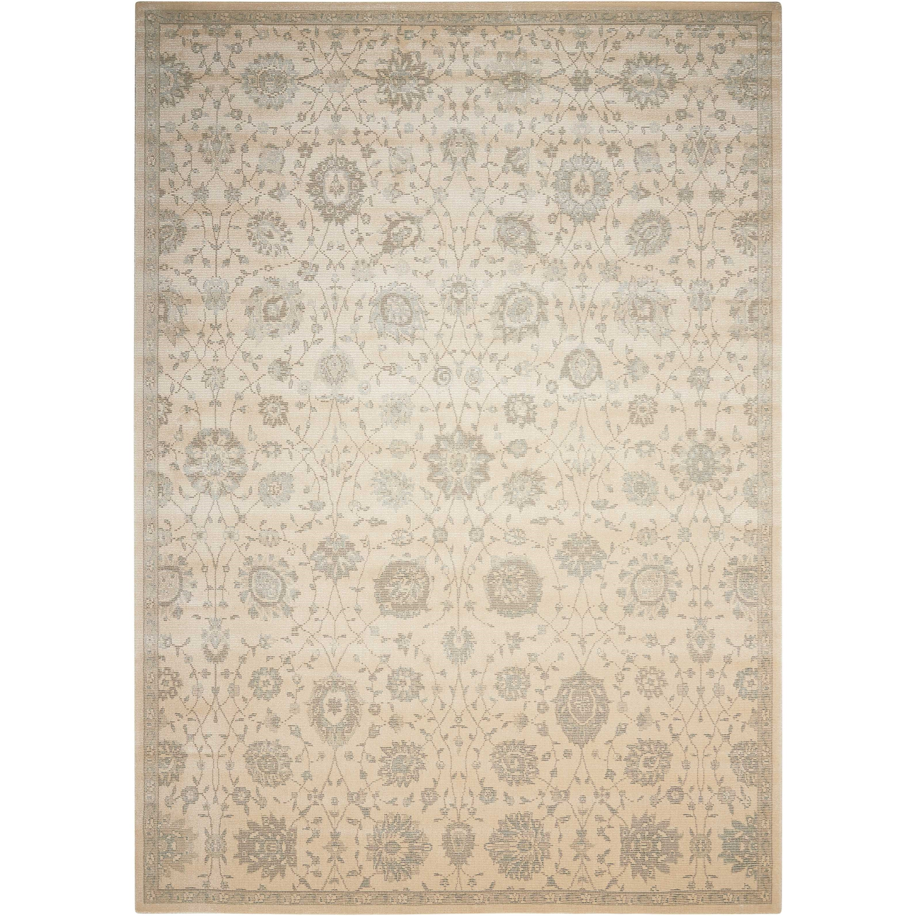 "Luminance 7'6"" x 10'6"" Cream Rectangle Rug by Nourison at Sprintz Furniture"