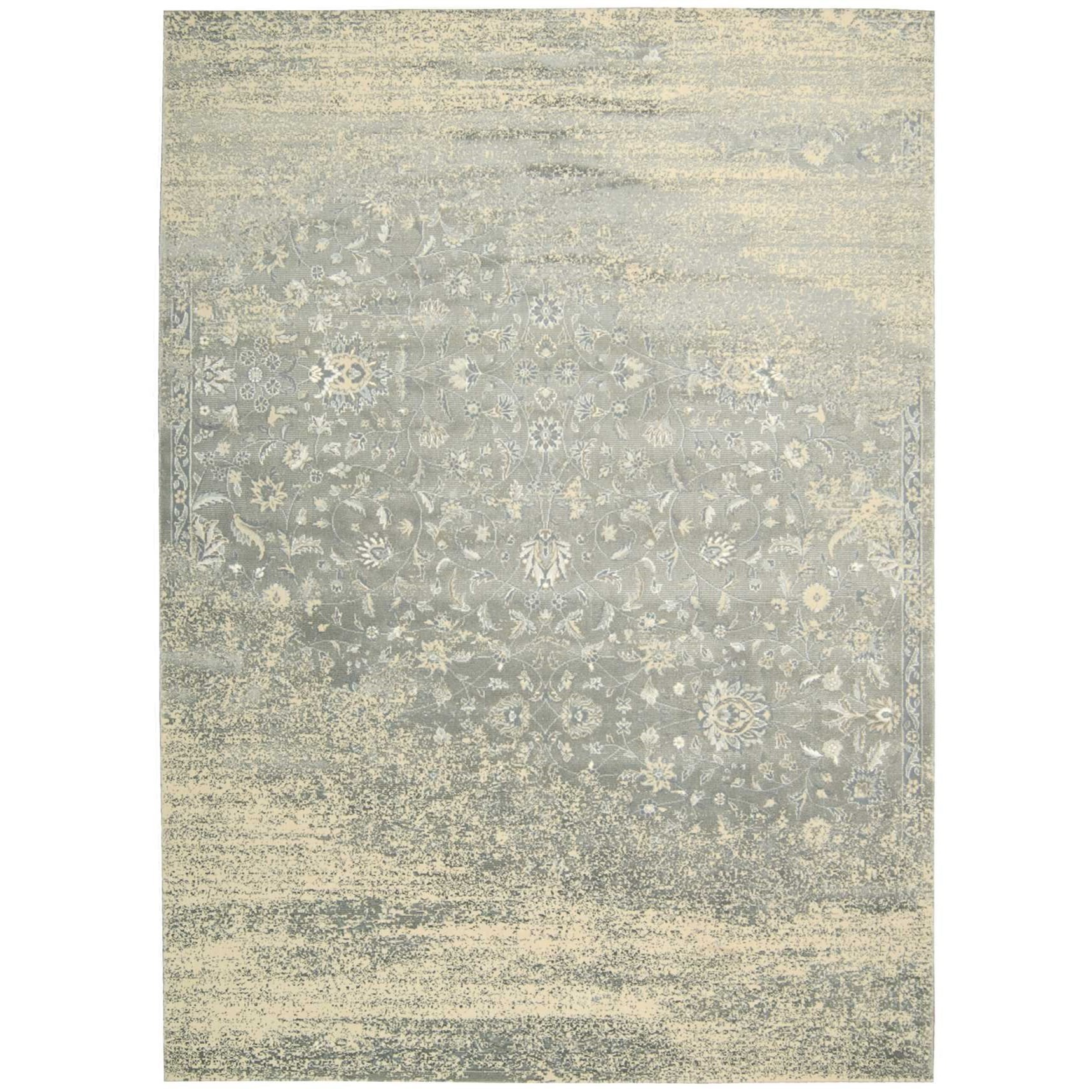 """Luminance 7'6"""" x 10'6"""" Silver Rectangle Rug by Nourison at Home Collections Furniture"""