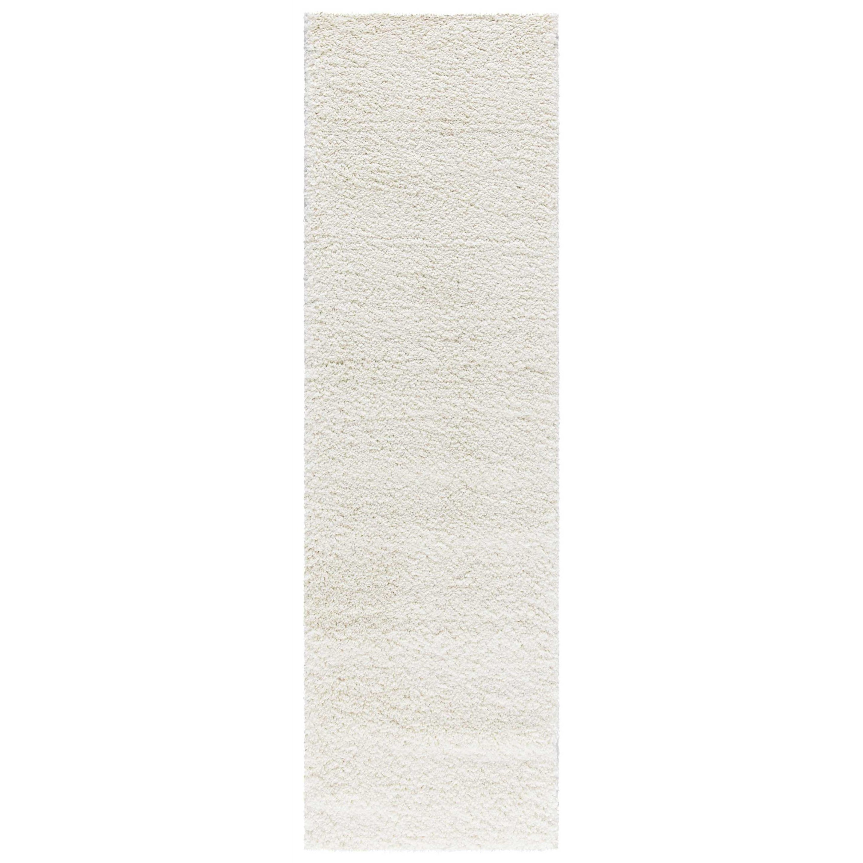 Malibu Shag Malibu Shag MSG01 White 8' Runner  Hallway R by Nourison at Home Collections Furniture