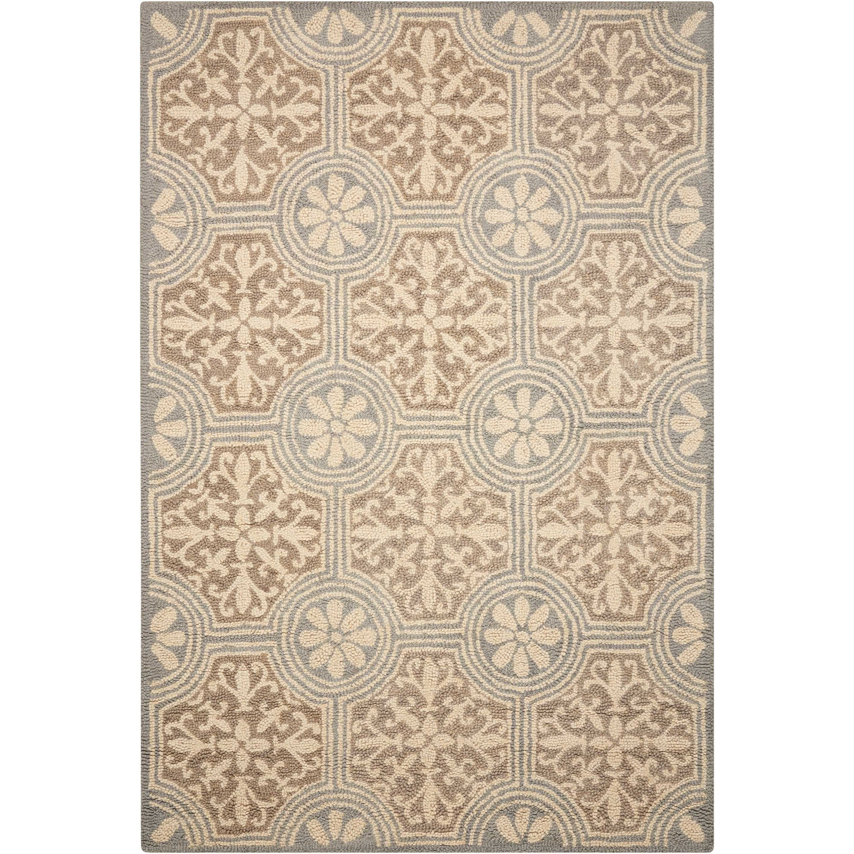 """Marina 8' x 10'6"""" Grey Rectangle Rug by Nourison at Home Collections Furniture"""