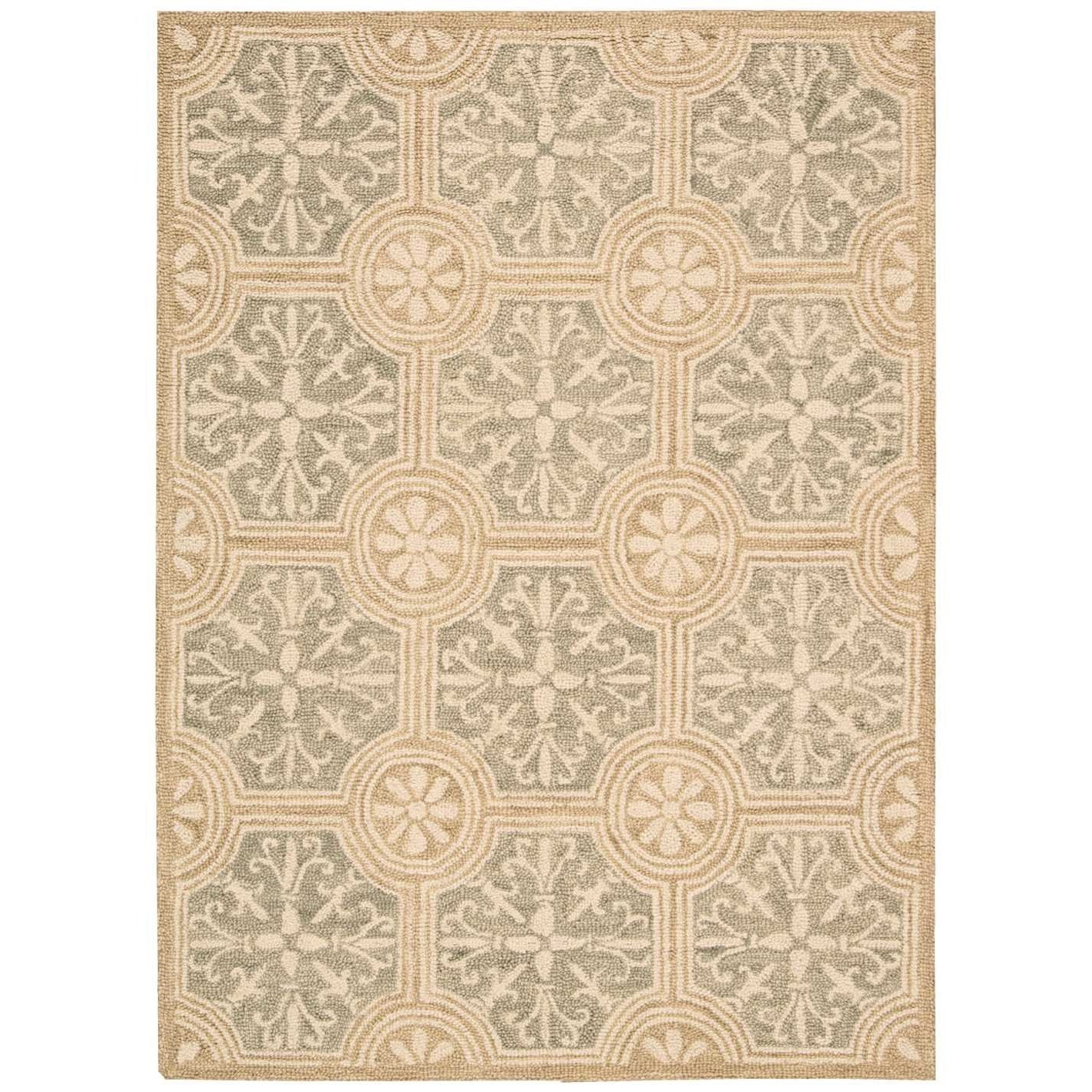 """Marina 5' x 7'6"""" Stone Rectangle Rug by Nourison at Home Collections Furniture"""