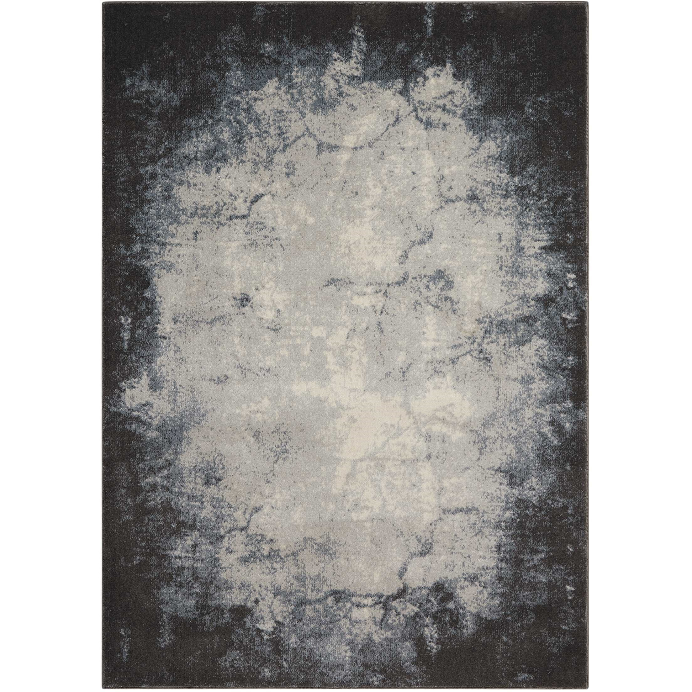 """Maxell 7'10"""" X 10'6"""" Iv/Grey Rug by Nourison at Home Collections Furniture"""