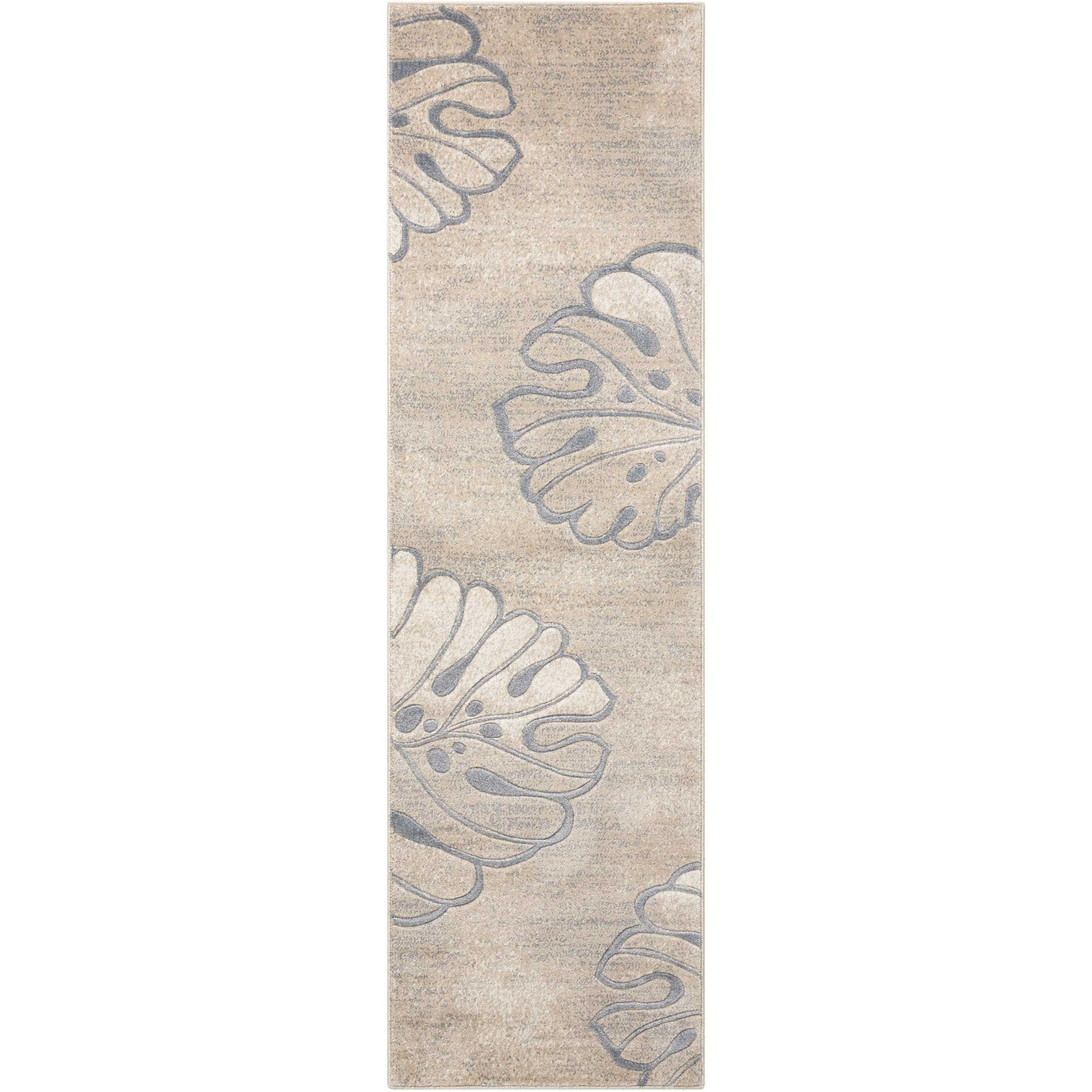 "Maxell 2'2"" X 7'6"" Beige Rug by Nourison at Home Collections Furniture"
