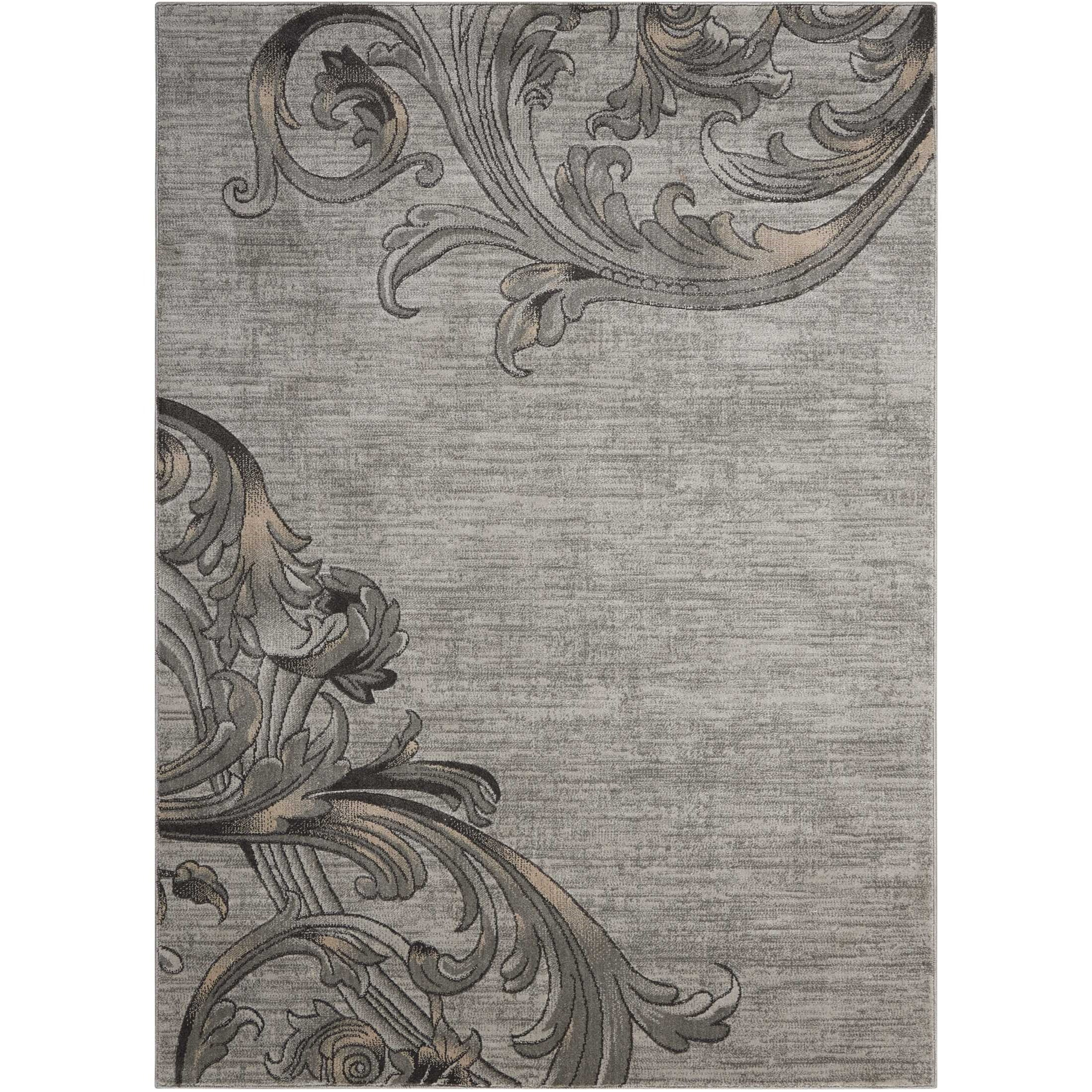 "Maxell 3'10"" X 5'10"" Graphite Rug by Nourison at Home Collections Furniture"