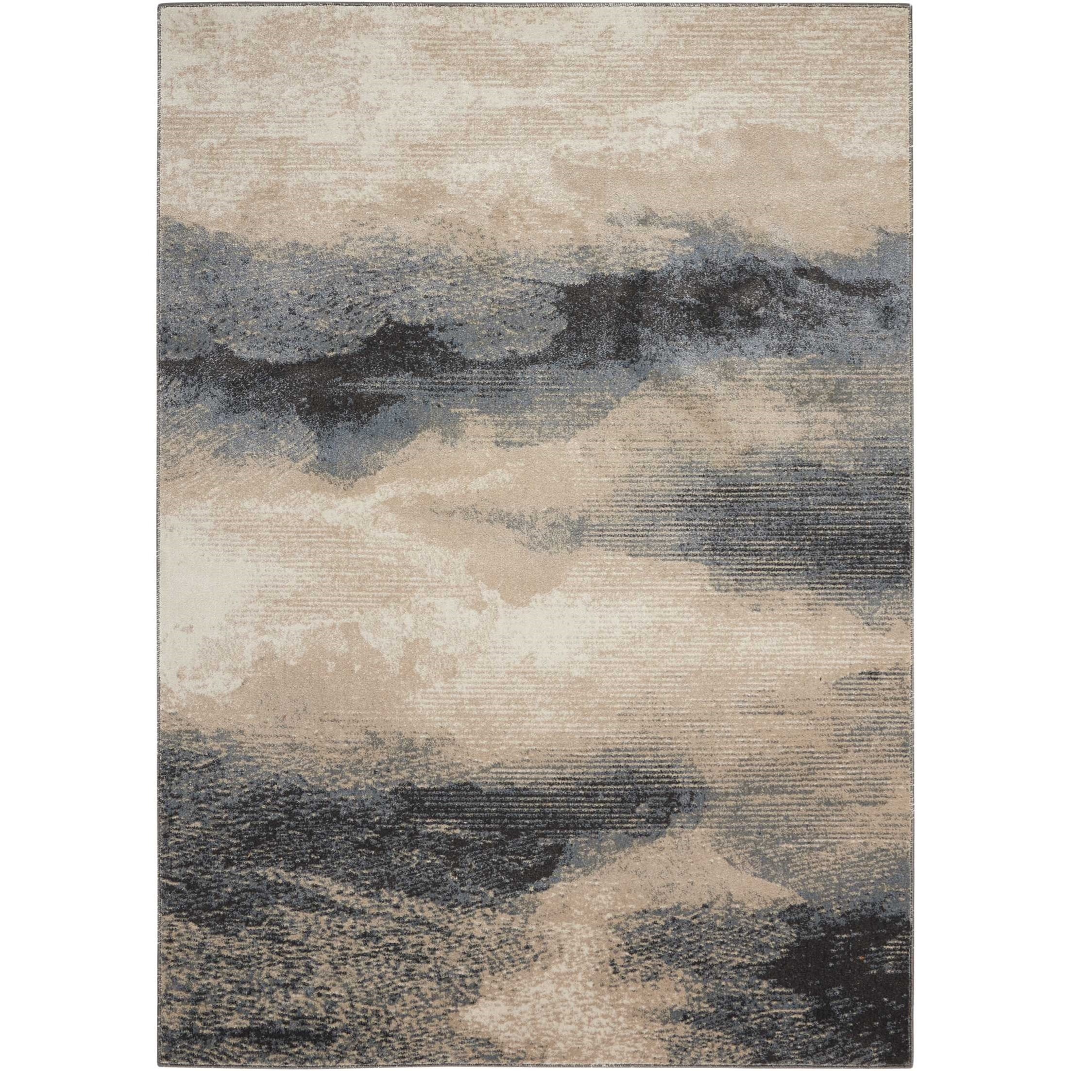 "Maxell 5'3"" X 7'3"" Flint Rug by Nourison at Darvin Furniture"