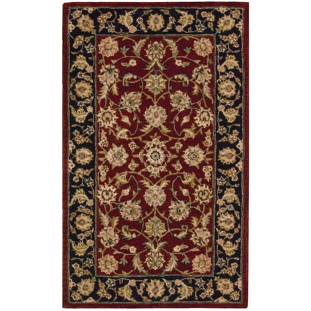 """Nourison 2000 2'6"""" x 4'3"""" Burgundy Rectangle Rug by Nourison at Home Collections Furniture"""