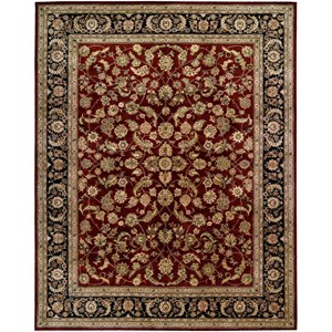 "7'9"" x 9'9"" Burgundy Rectangle Rug"