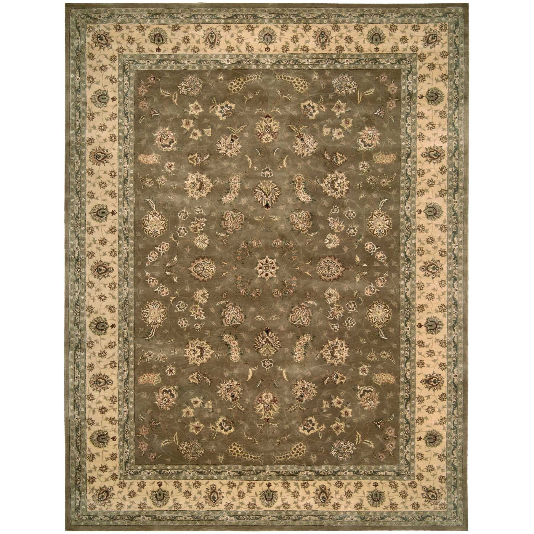 Nourison 2000 12' x 15' Olive Rectangle Rug by Nourison at Home Collections Furniture
