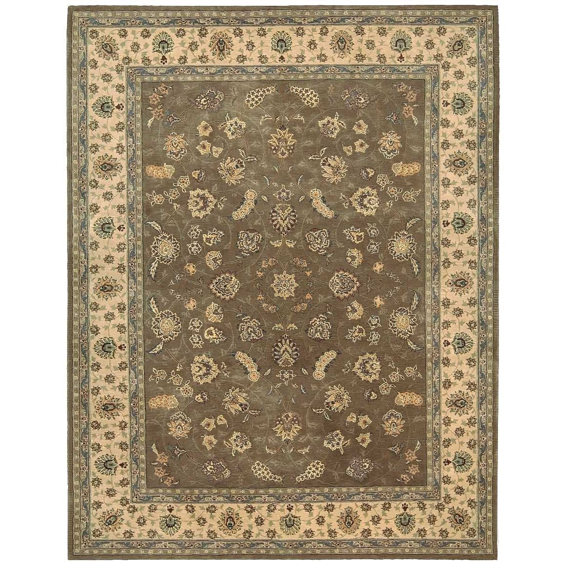 """Nourison 2000 7'9"""" x 9'9"""" Olive Rectangle Rug by Nourison at Home Collections Furniture"""