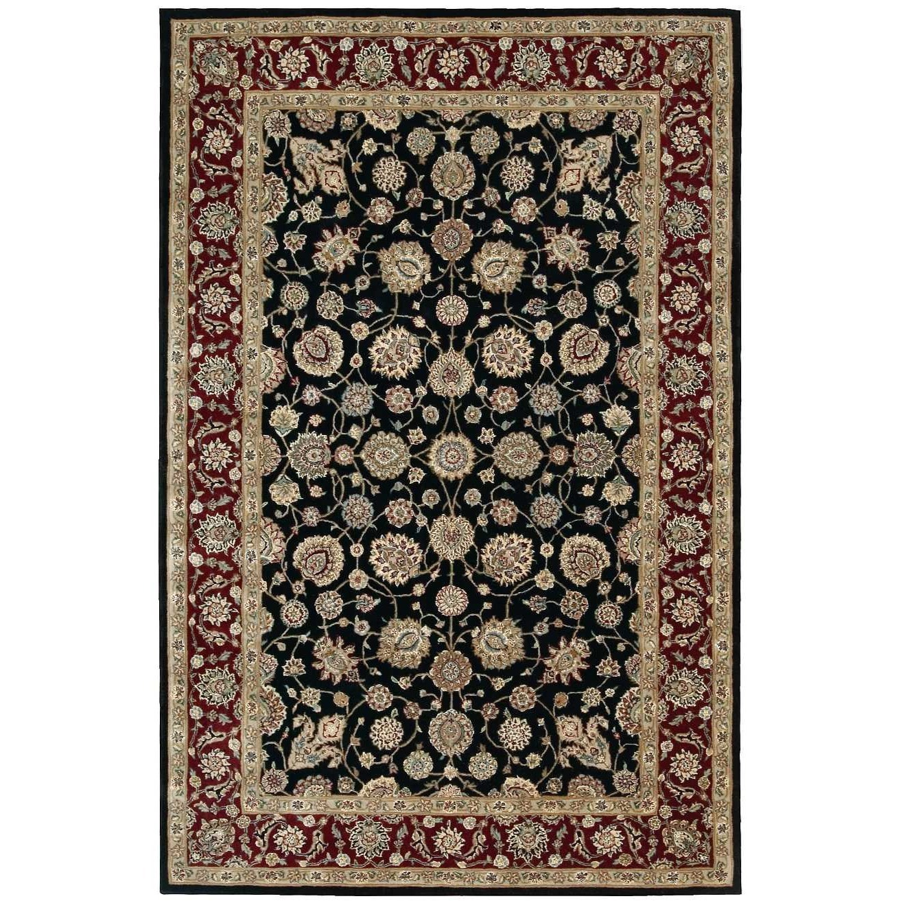 "Nourison 2000 5'6"" x 8'6"" Black Rectangle Rug by Nourison at Sprintz Furniture"