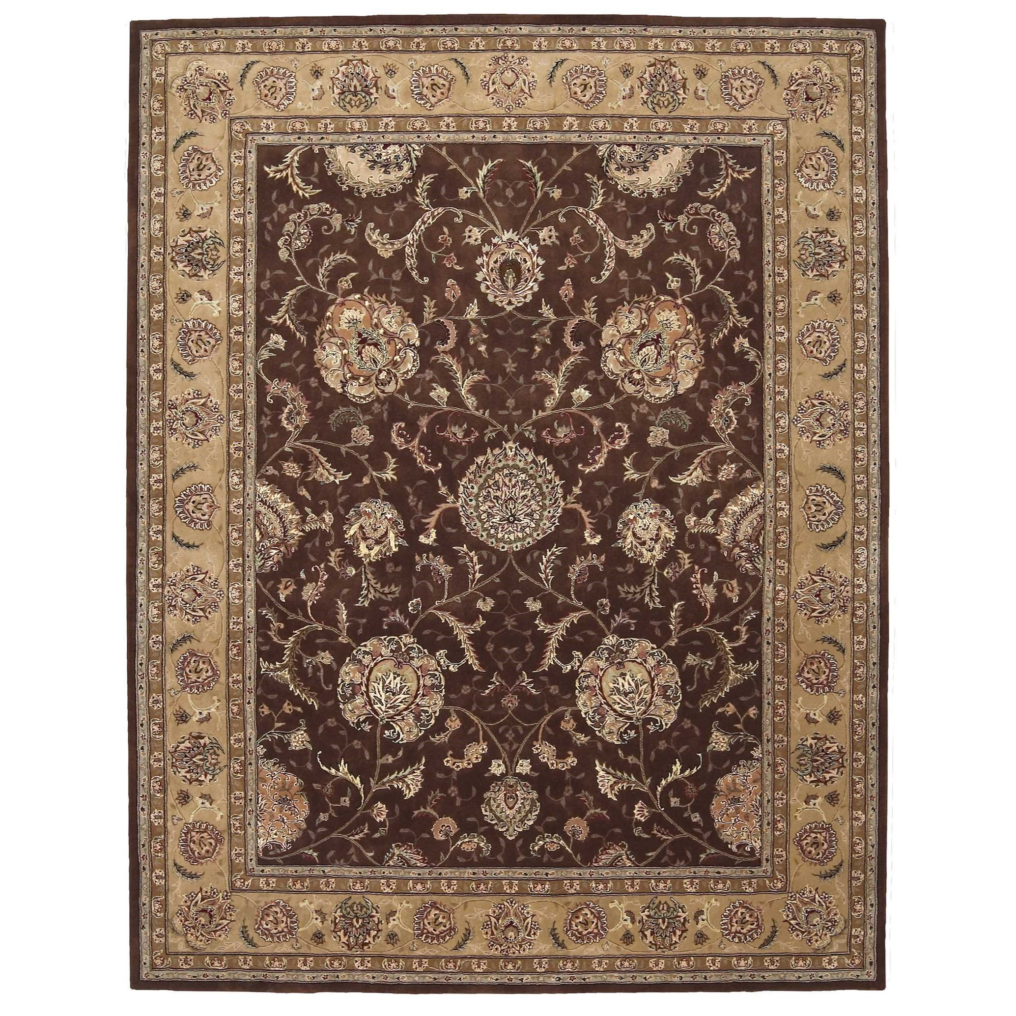 """Nourison 2000 8'6"""" x 11'6"""" Brown Rectangle Rug by Nourison at Home Collections Furniture"""