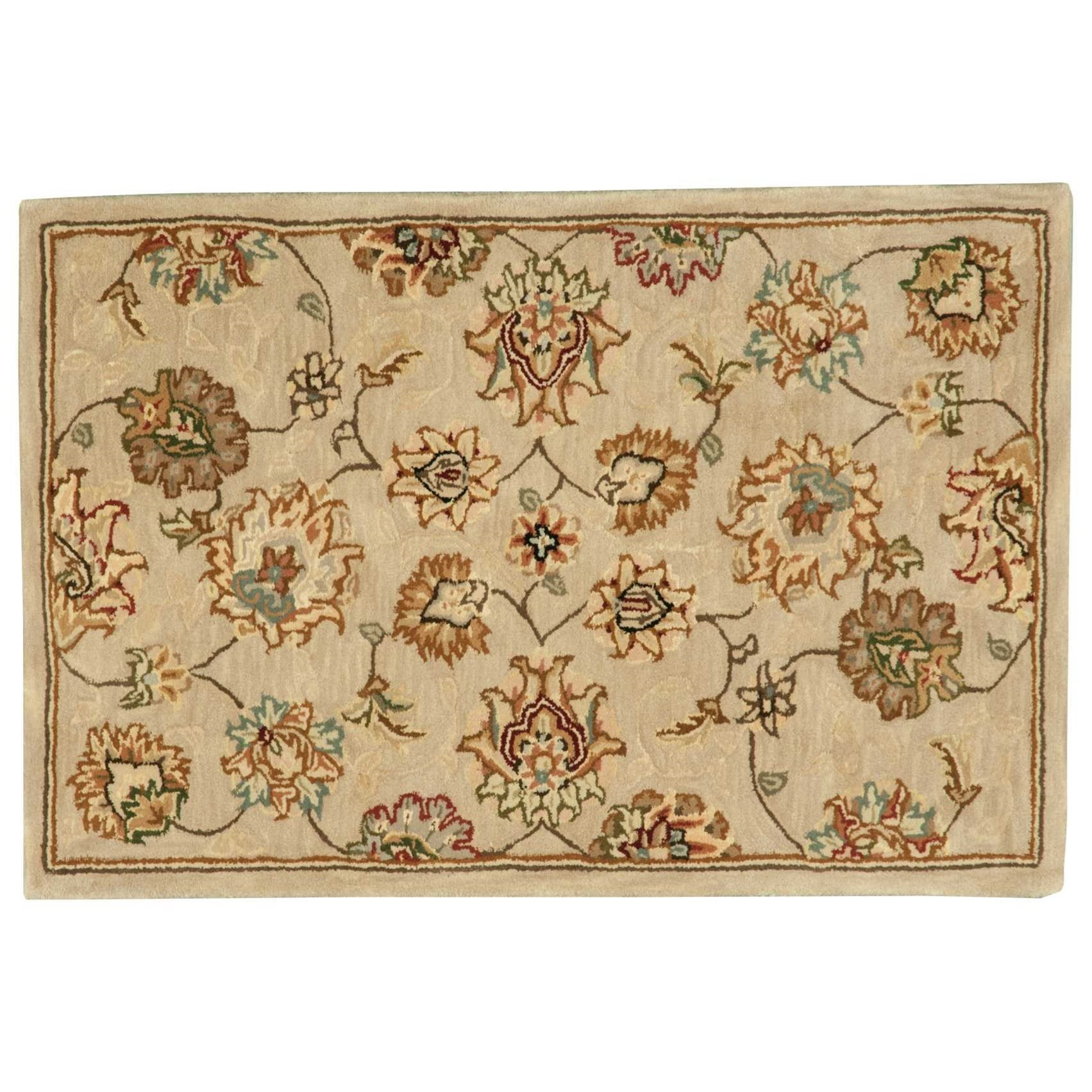 Nourison 2000 2' x 3' Beige Rectangle Rug by Nourison at Home Collections Furniture