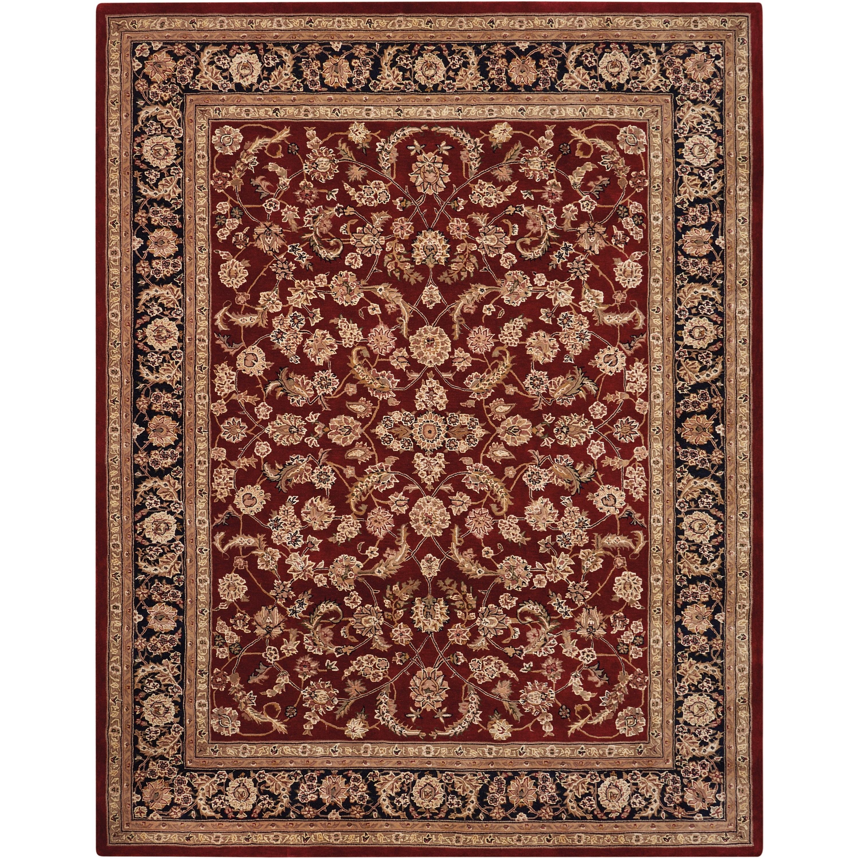 Nourison 2000 2000 2002 Dark Red Multicolor 8'x10'  Area R by Nourison at Home Collections Furniture