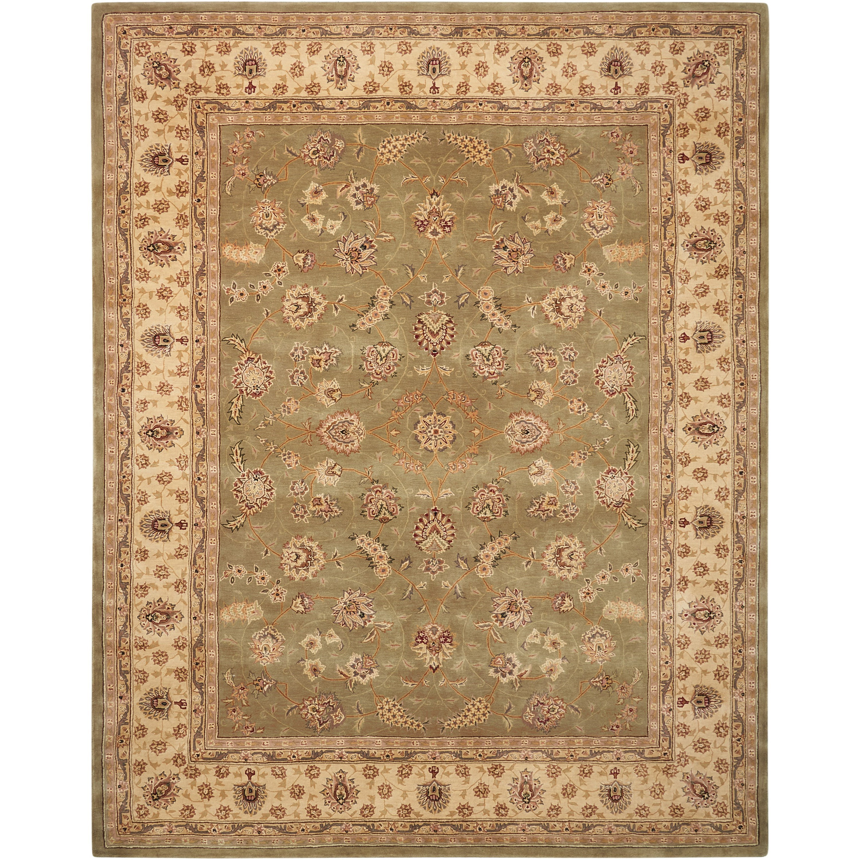 Nourison 2000 2000 2003 Olive 8'x10'  Area Rug by Nourison at Home Collections Furniture