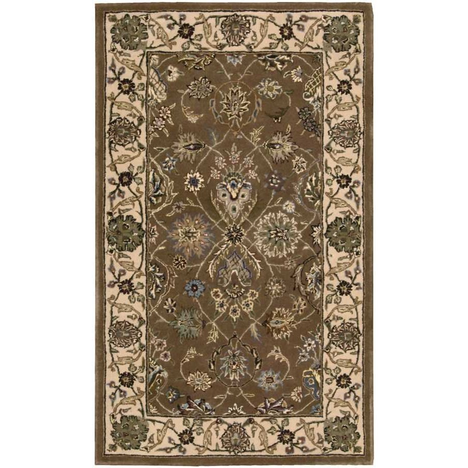Nourison 2000 2000 2091 Mushroom 3'x5'  Area Rug by Nourison at Home Collections Furniture