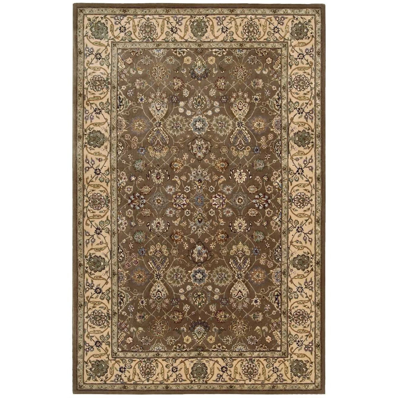 Nourison 2000 2000 2091 Mushroom 6'x9'  Area Rug by Nourison at Home Collections Furniture
