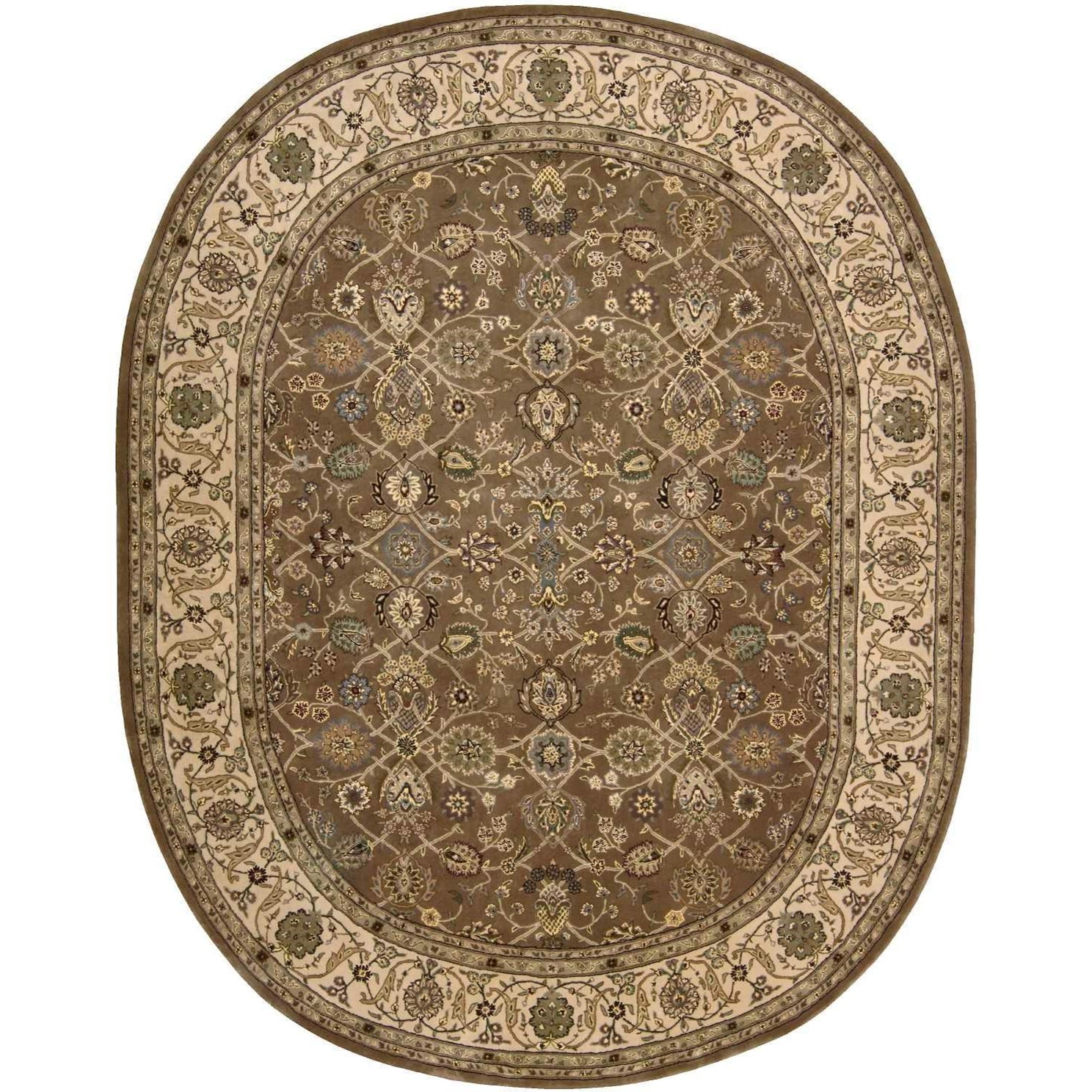 Nourison 2000 2000 2091 Mushroom 10' Oval  Area Rug by Nourison at Home Collections Furniture