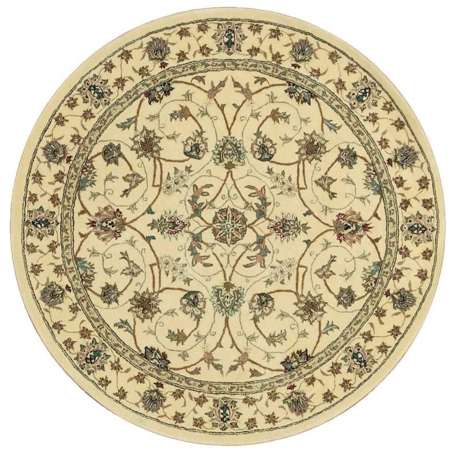 Nourison 2000 2000 2023 Ivory 4' Round  Area Rug by Nourison at Home Collections Furniture